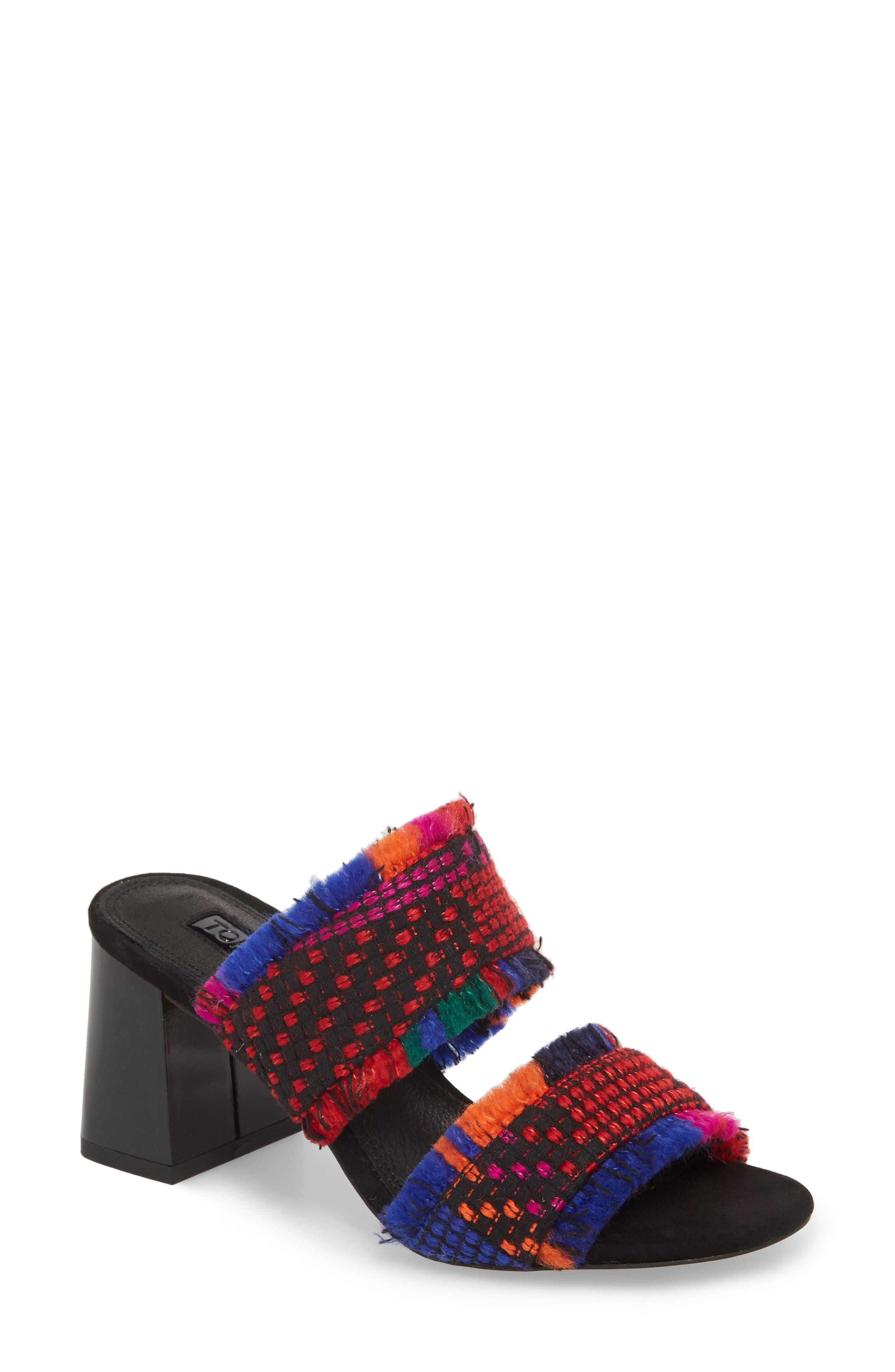 Topshop Nelly Woven Slide Sandal (Women)