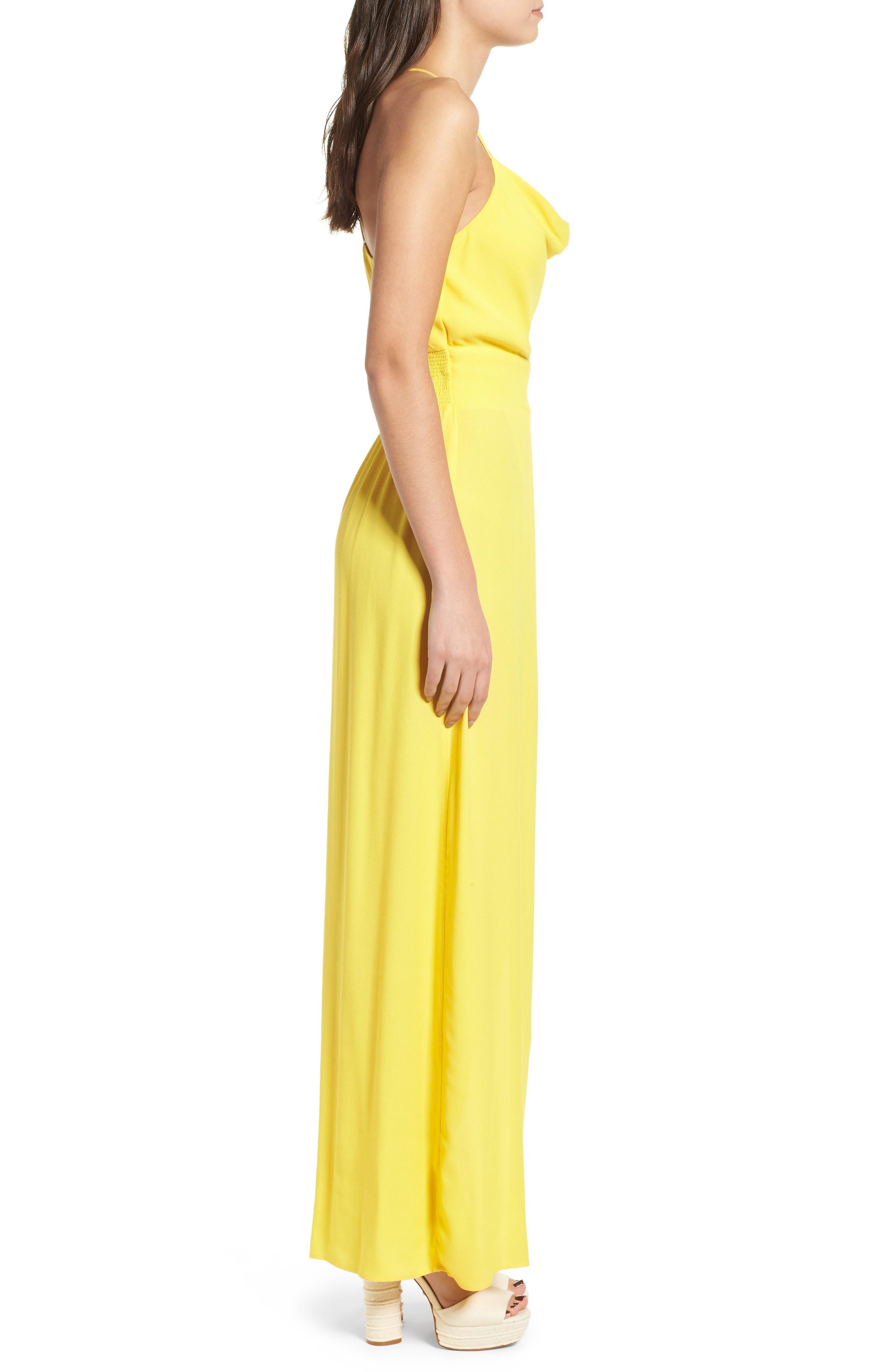 Rain Maxi Dress,                             Alternate thumbnail 3, color,                             Gold