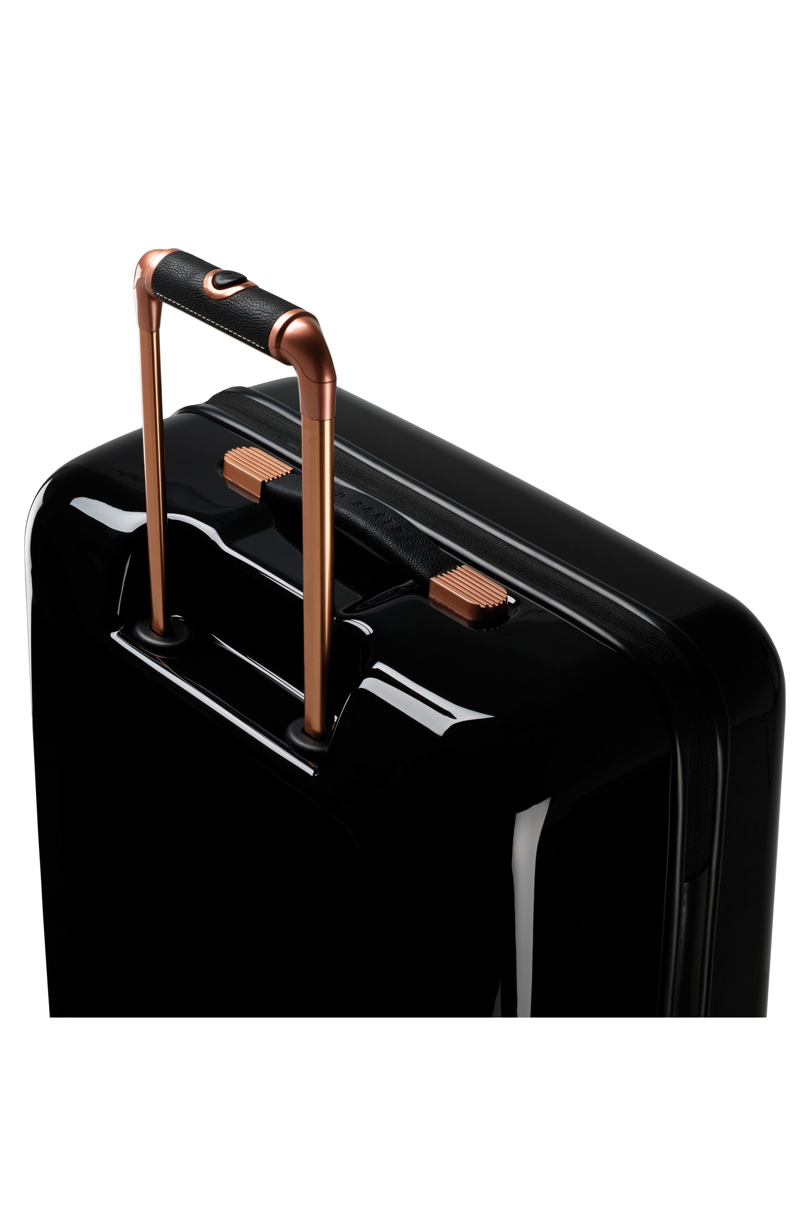 Medium Versailles 27-Inch Hard Shell Spinner Suitcase,                             Alternate thumbnail 5, color,                             Black