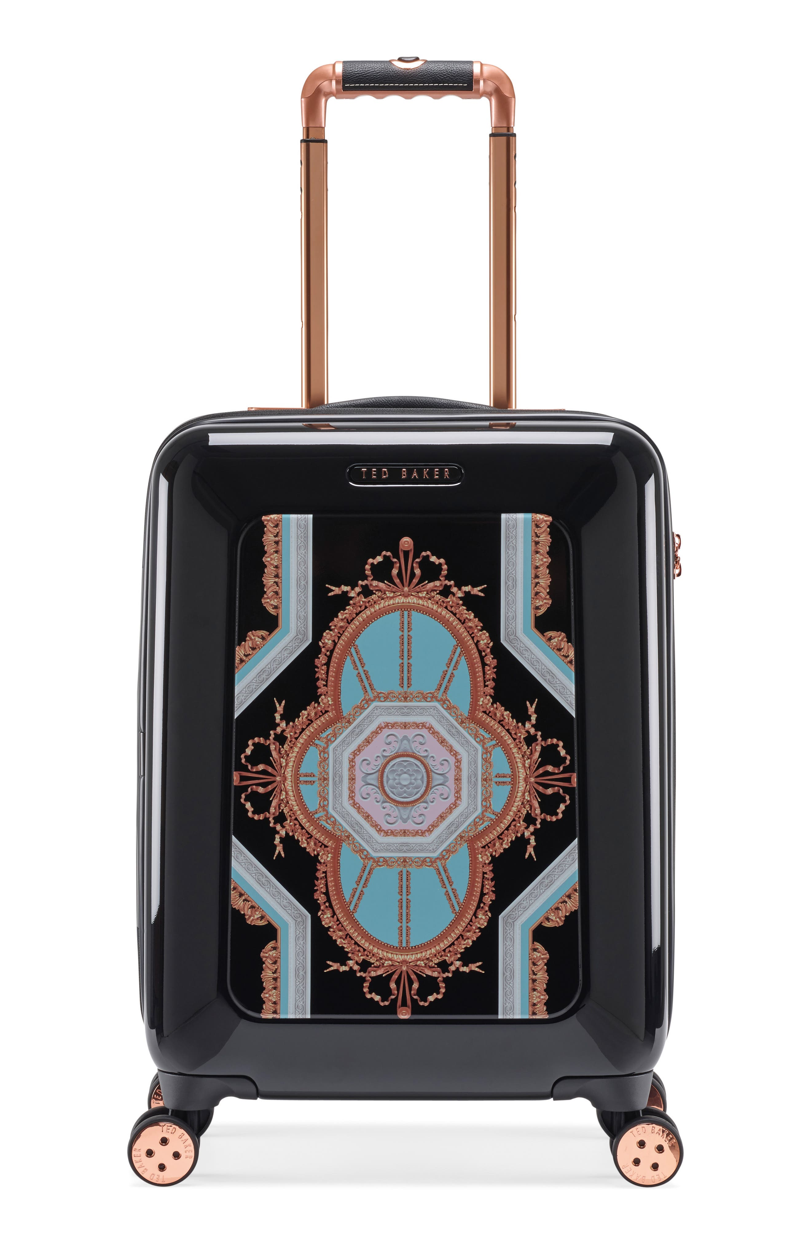 Small Versailles 21-Inch Spinner Carry-On,                         Main,                         color, Black