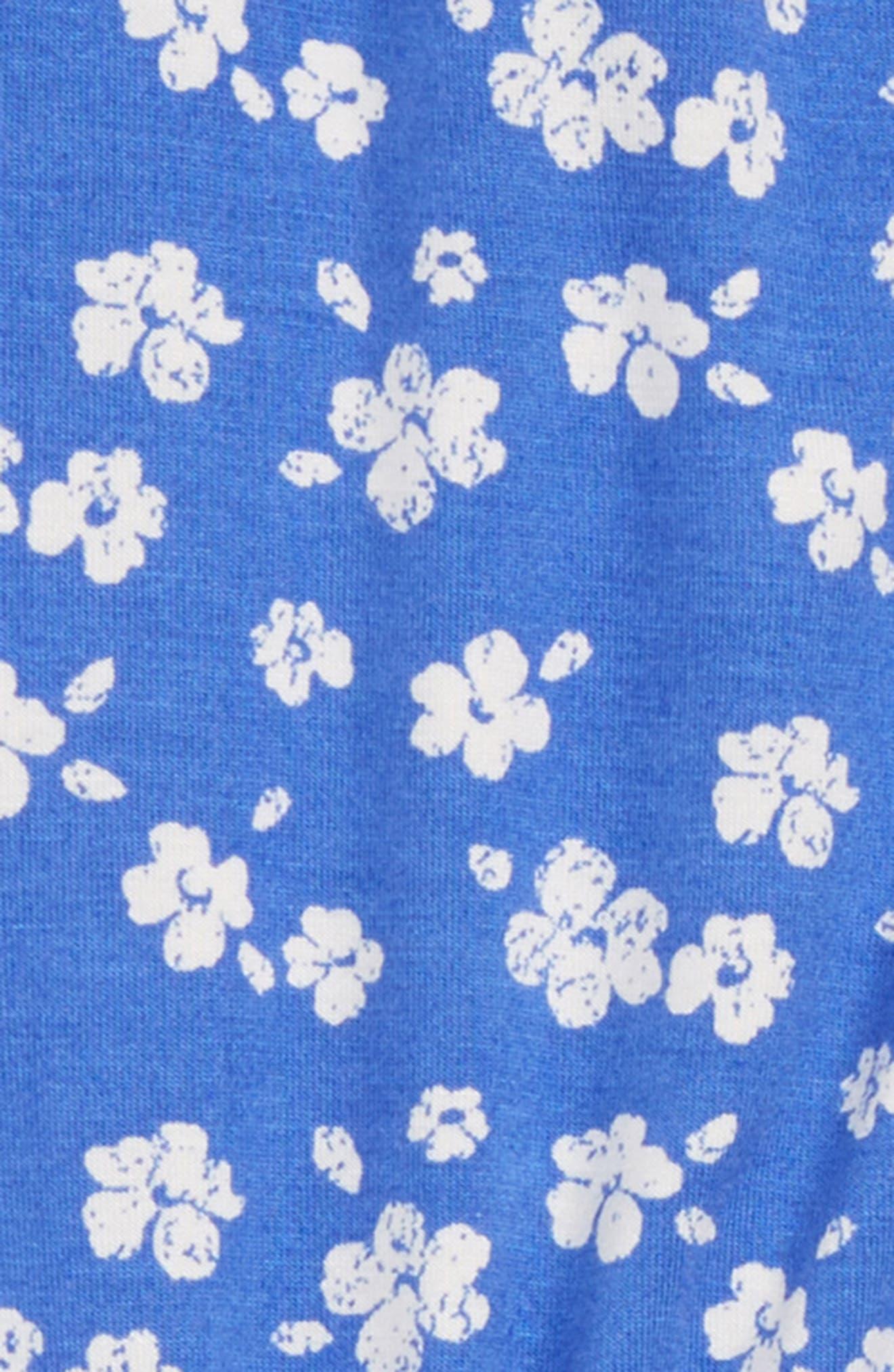 Print Romper,                             Alternate thumbnail 2, color,                             Blue Amparo Adrianna Floral