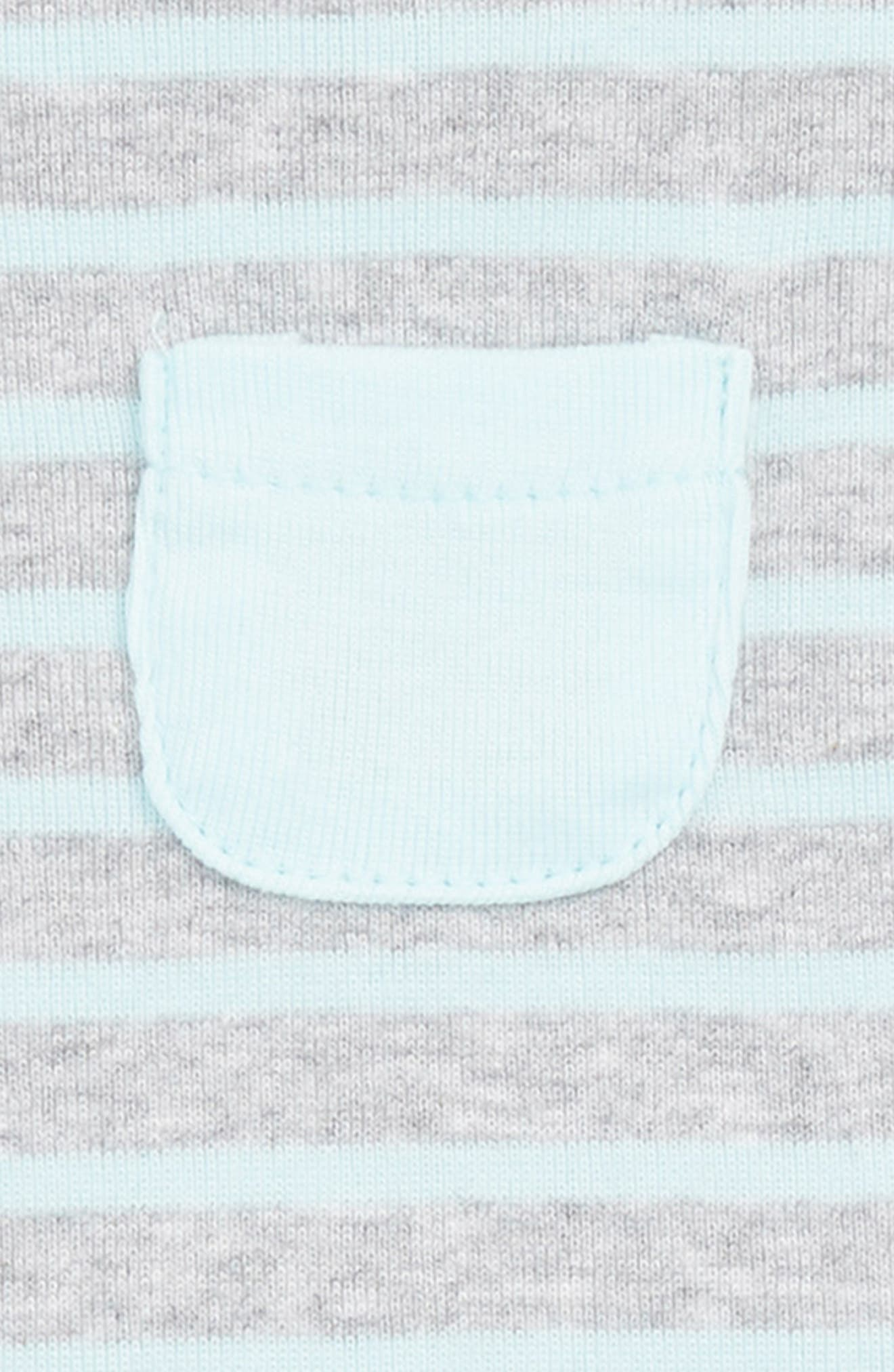 Reversible Stripe Romper,                             Alternate thumbnail 3, color,                             Grey Stripe