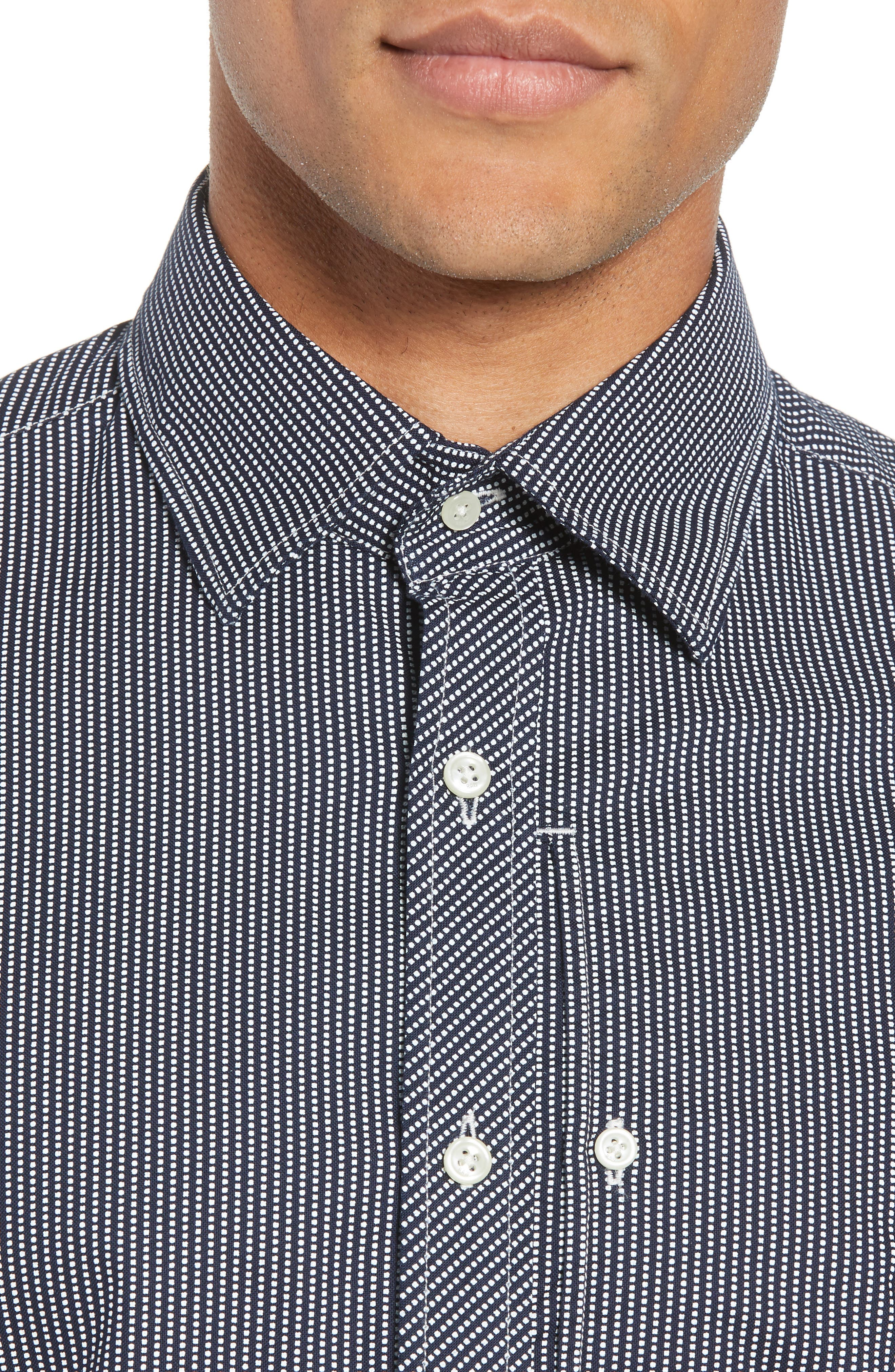 Bristum Straight Ref Shirt,                             Alternate thumbnail 4, color,                             Sartho Blue/ Milk
