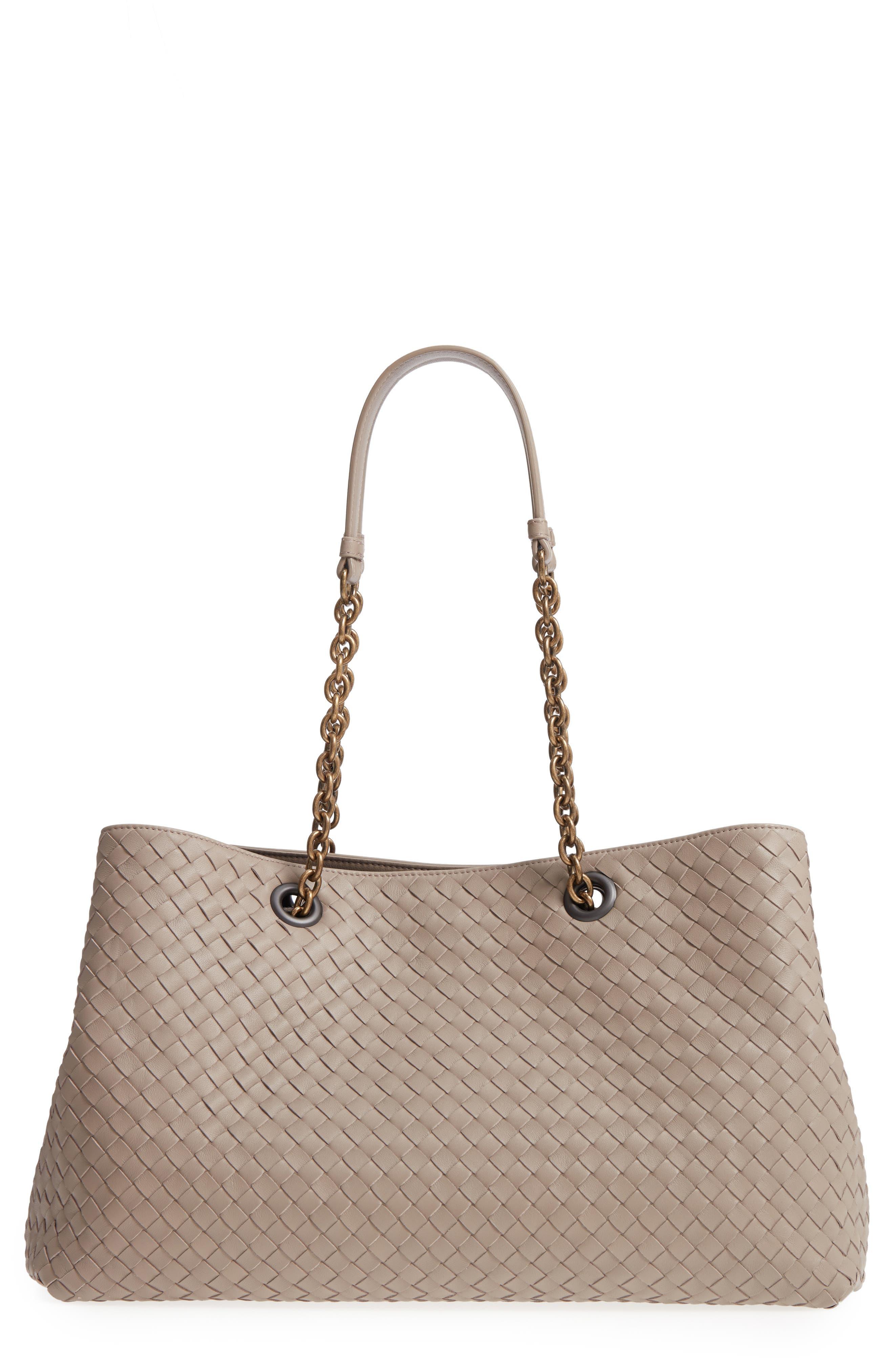 Bottega Veneta Intrecciato East/West Leather Tote Bag