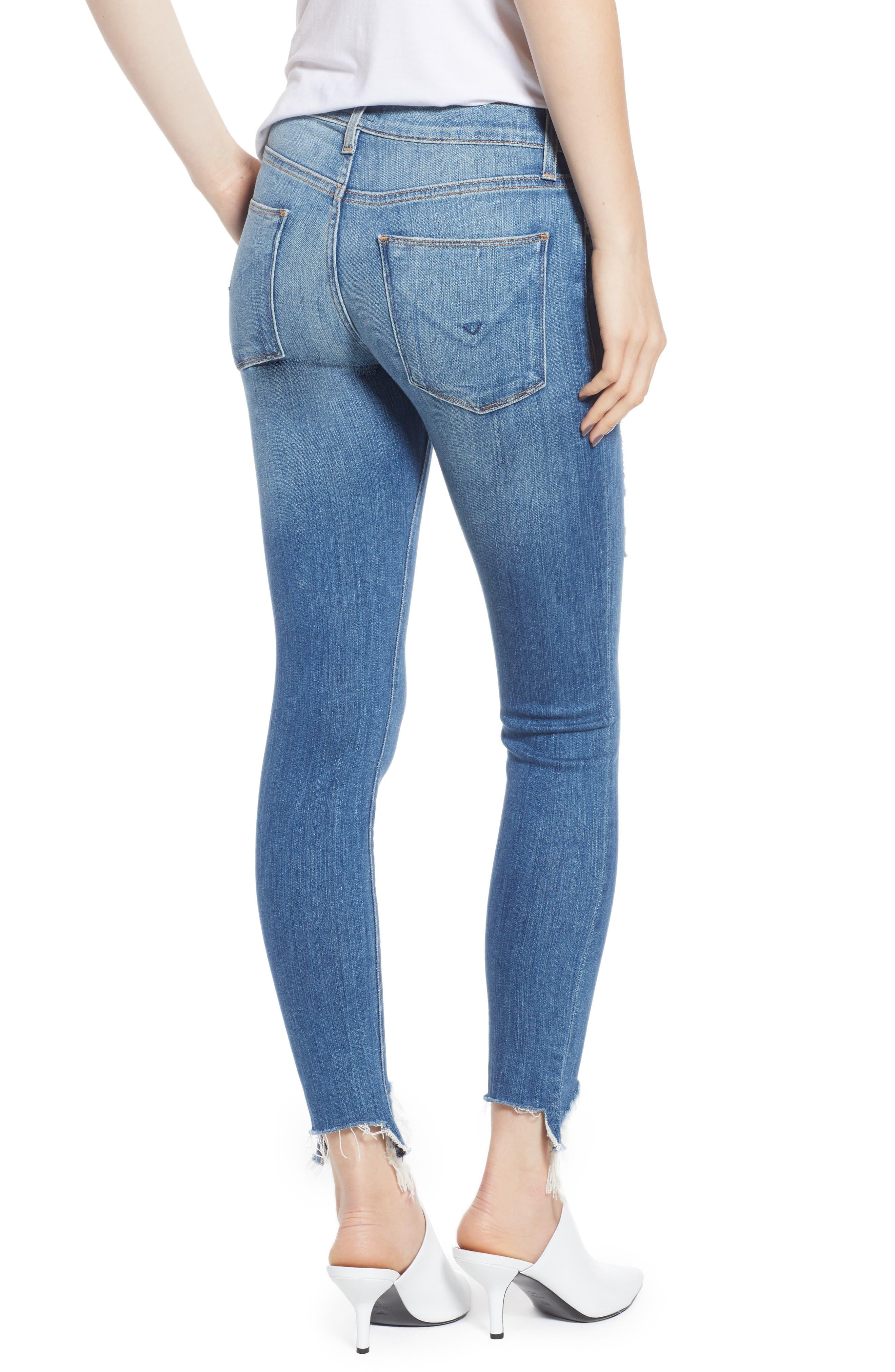 Nico Zip Hem Crop Skinny Jeans,                             Alternate thumbnail 2, color,                             Bite Back
