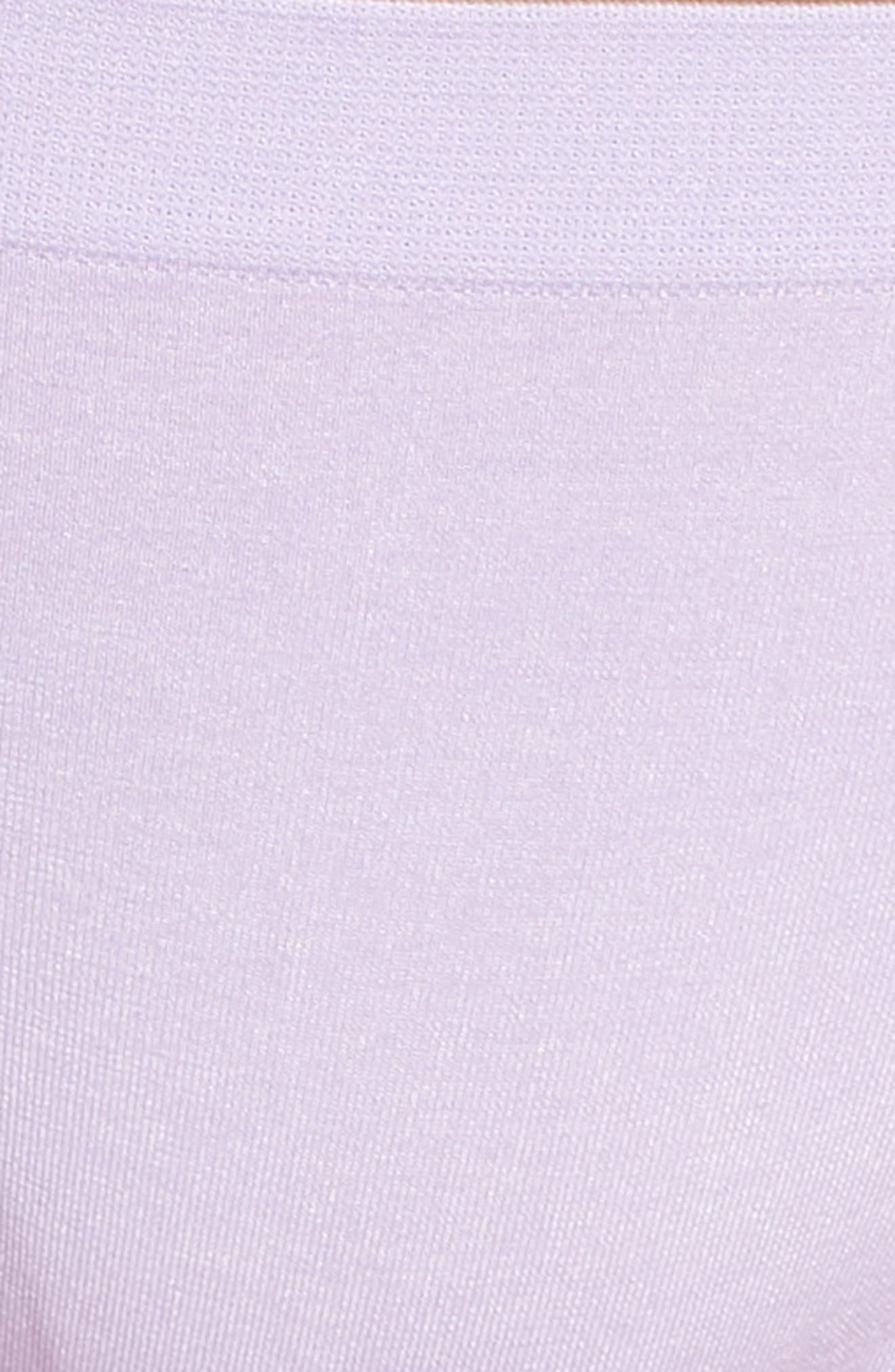 Stretch Thong,                             Alternate thumbnail 8, color,                             Purple Rose Heather