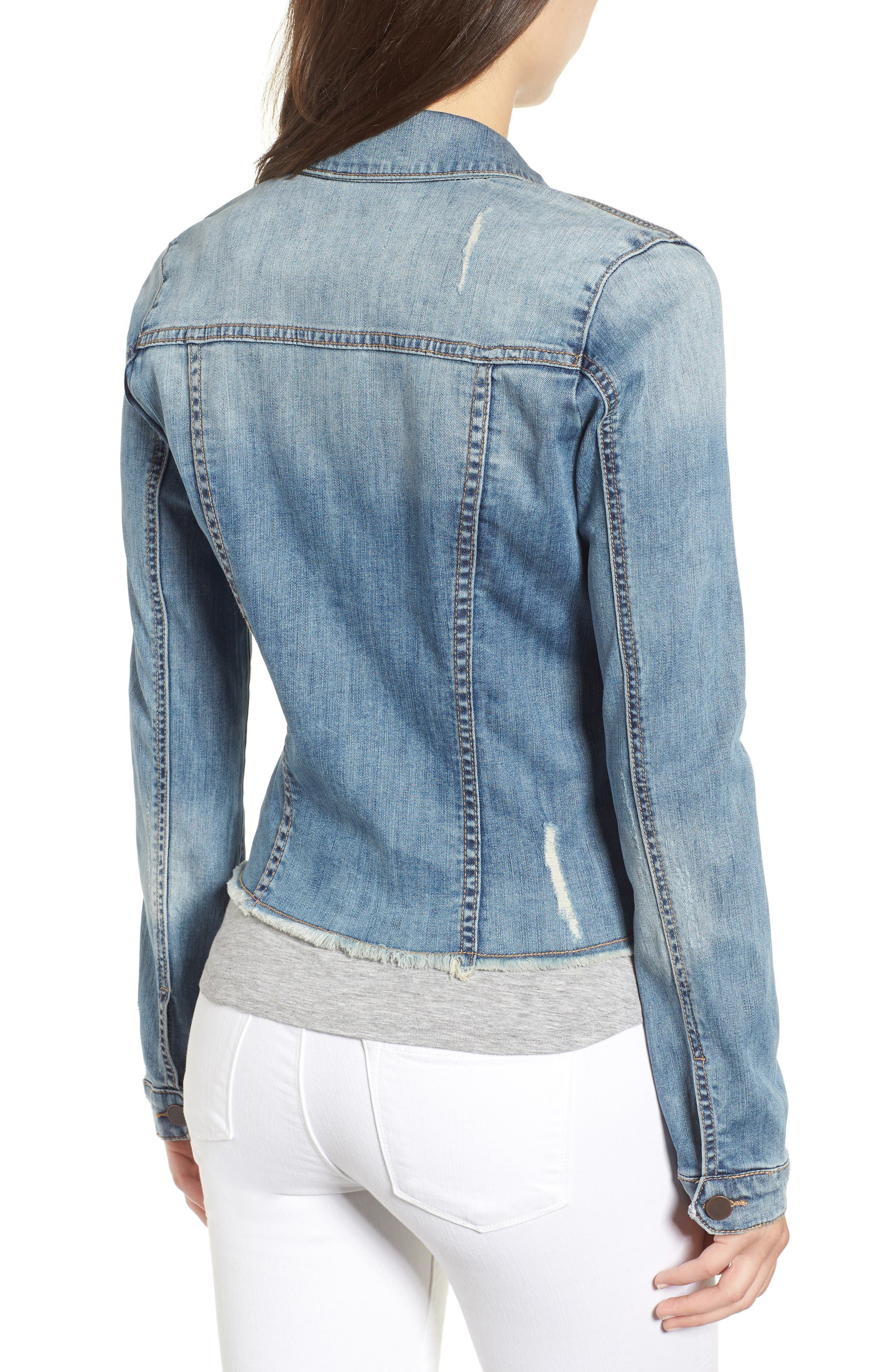 KUT from the Kloth Kara Denim Jacket,                             Alternate thumbnail 2, color,                             Confront