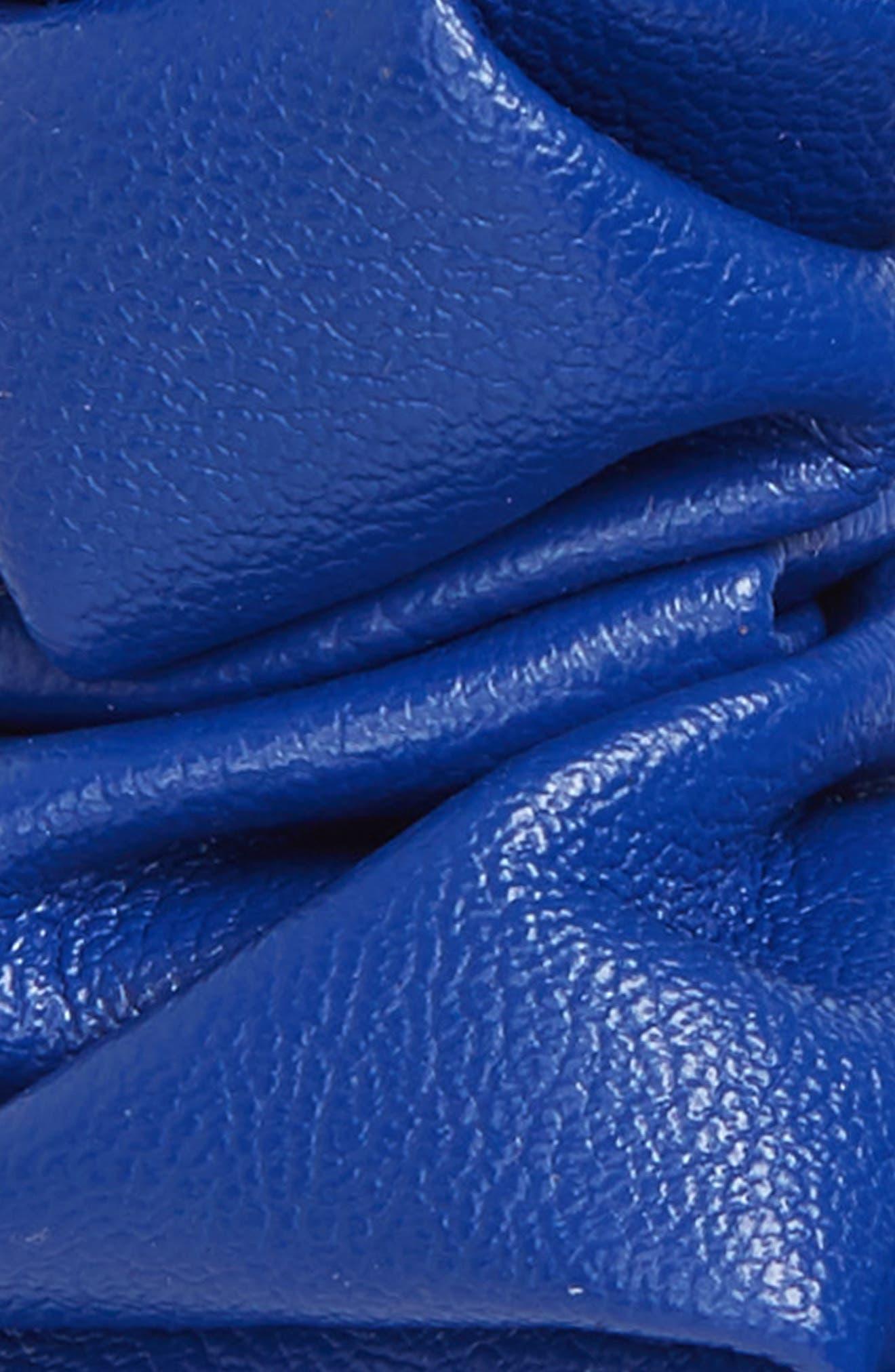 Faux Leather Scrunchie,                             Alternate thumbnail 2, color,                             Cobalt