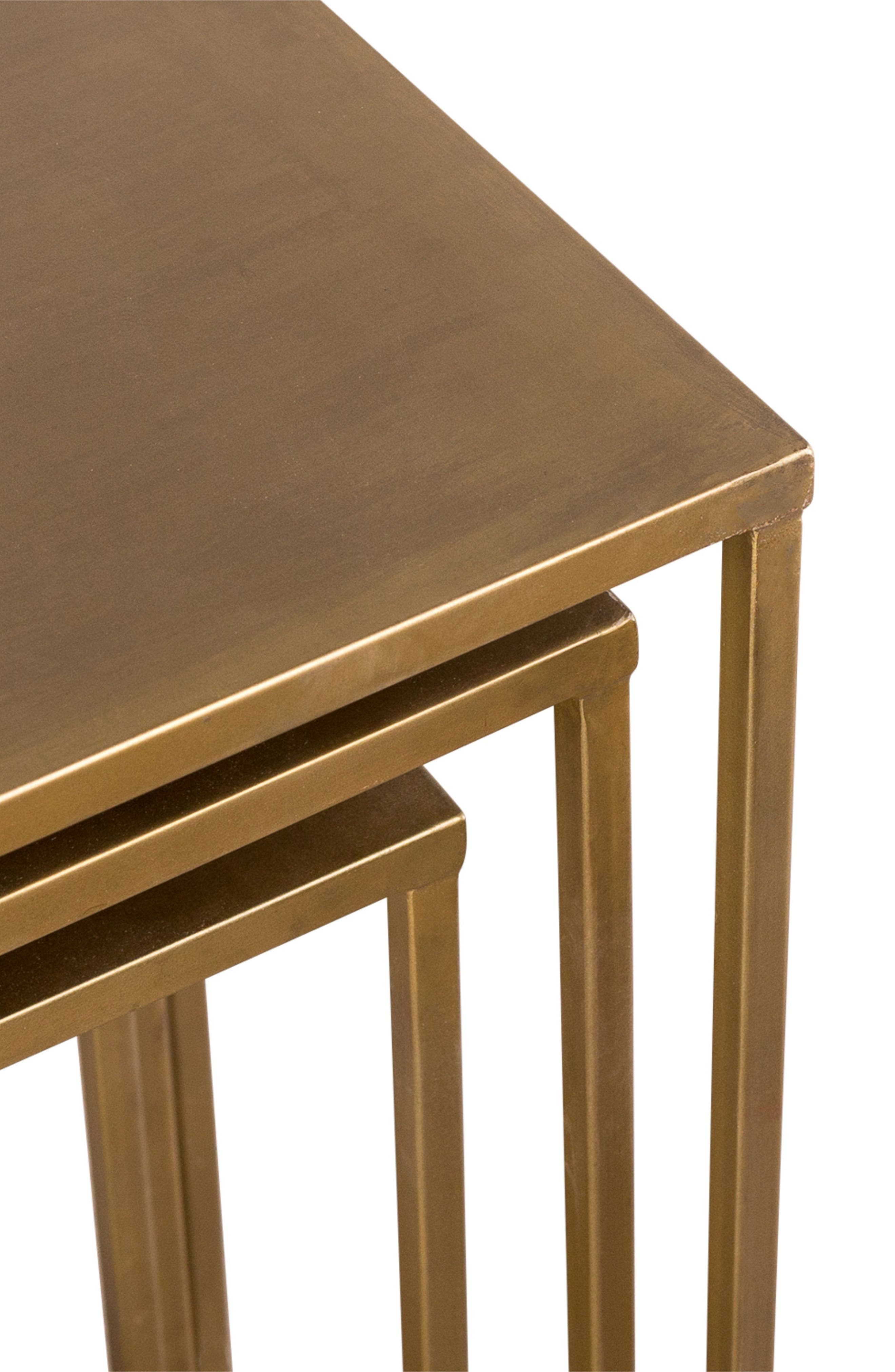Pollock Set of 3 Tall Nesting Tables,                             Alternate thumbnail 2, color,                             Brass