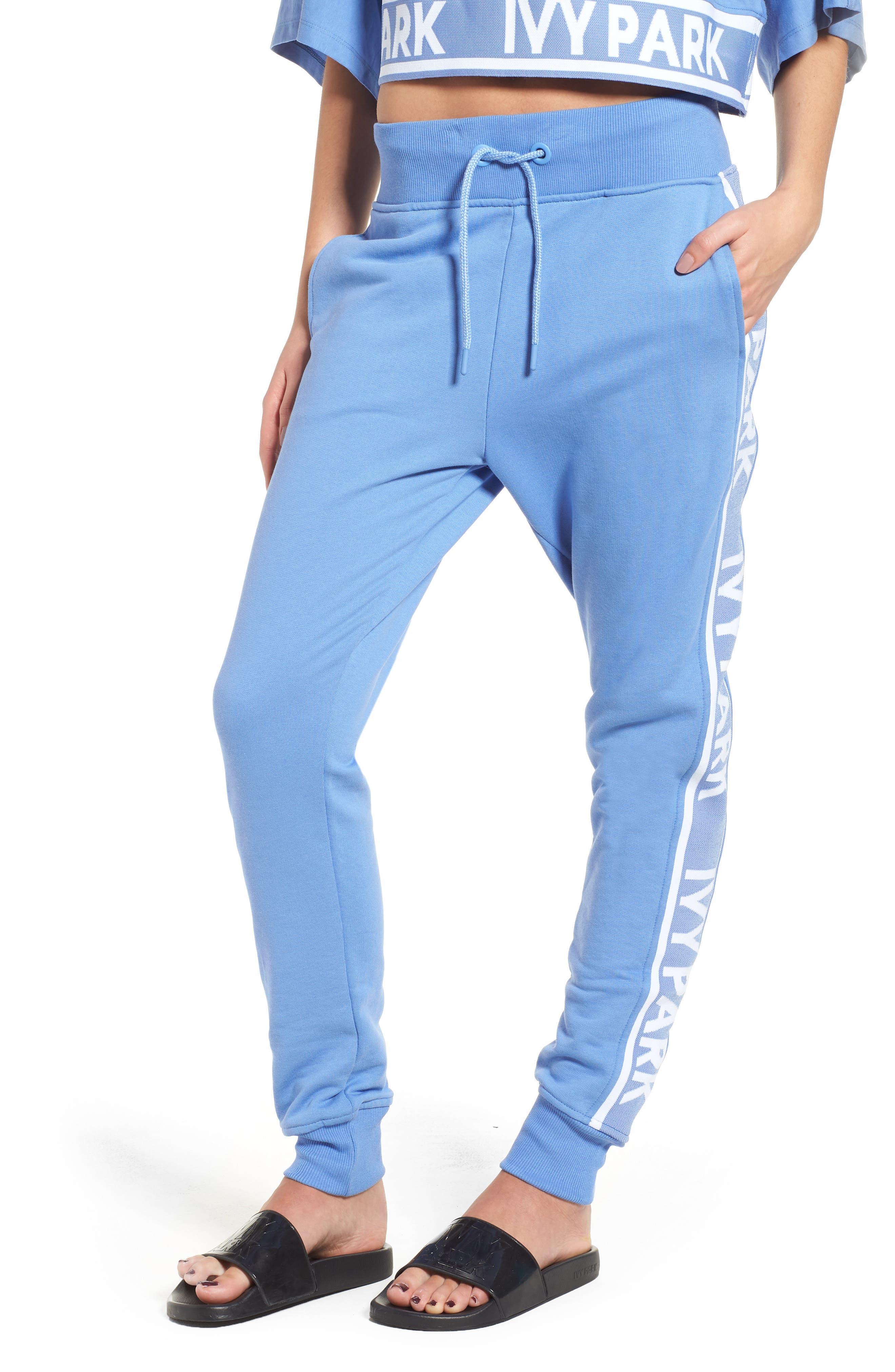 Logo Tape Jogger Pants,                         Main,                         color, Wedgewood Blue