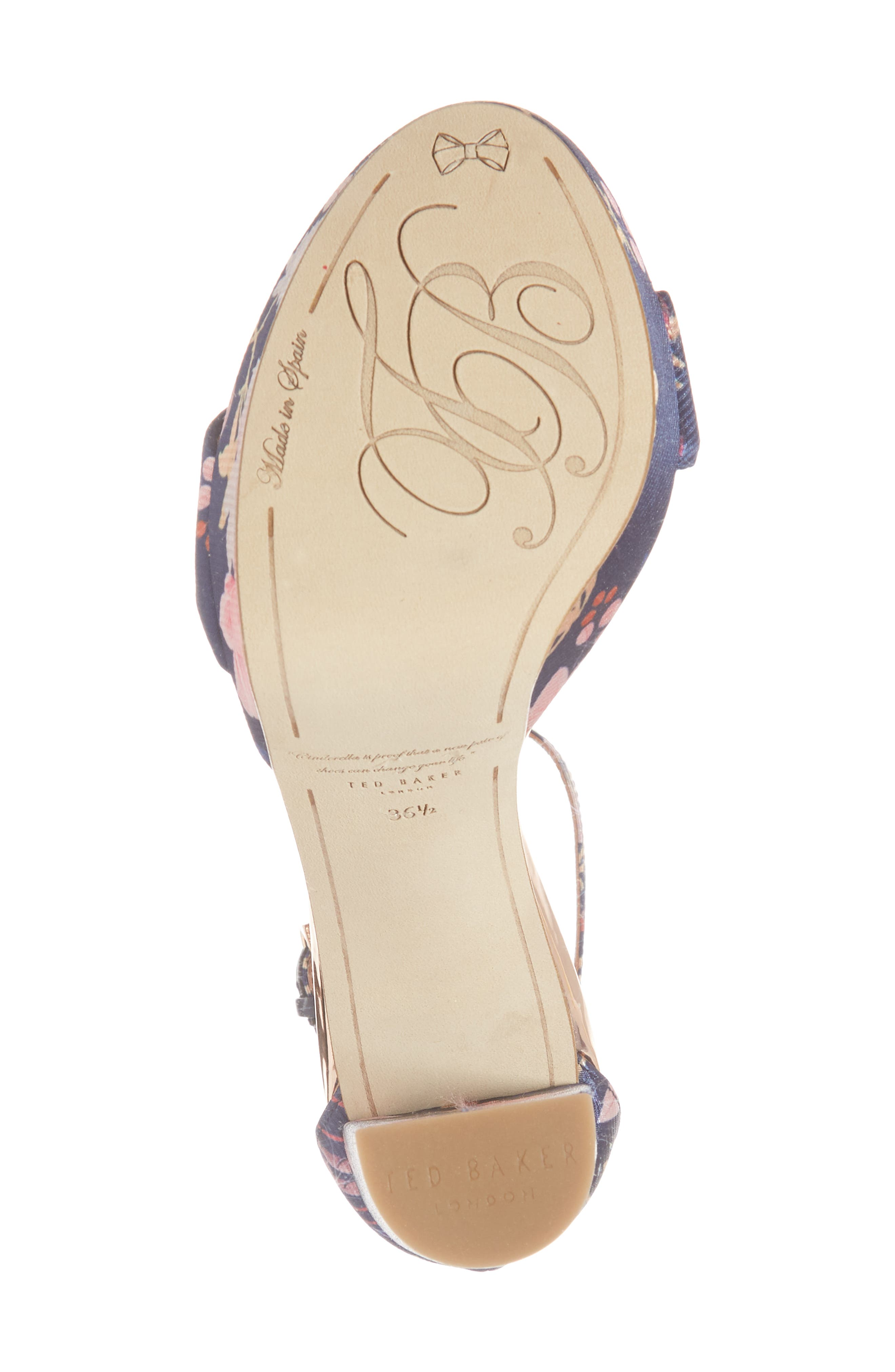 Junaa Sandal,                             Alternate thumbnail 6, color,                             Navy Fabric