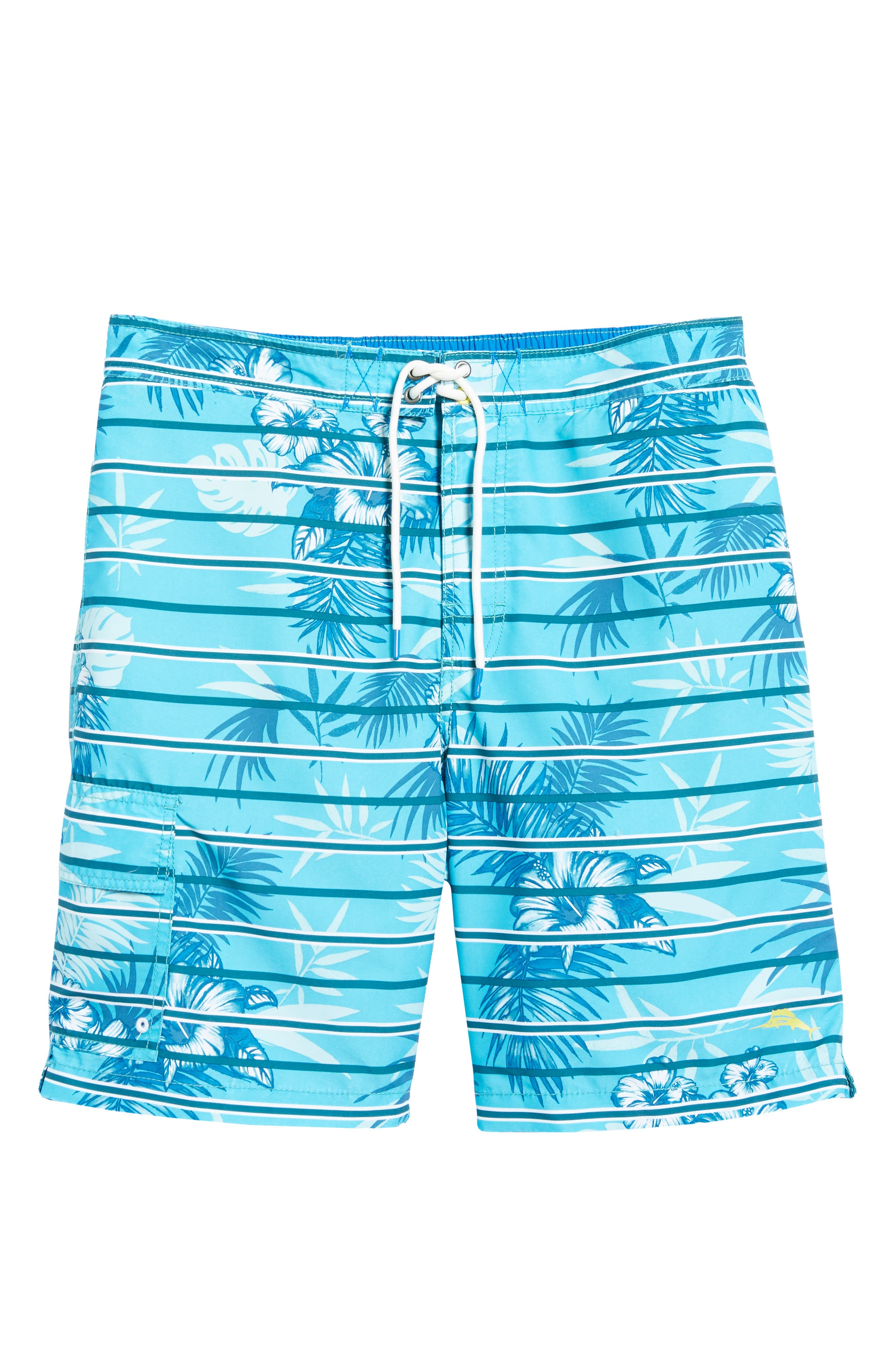 Baja Satillo Stripe Board Shorts,                             Alternate thumbnail 6, color,                             Blue Radiance