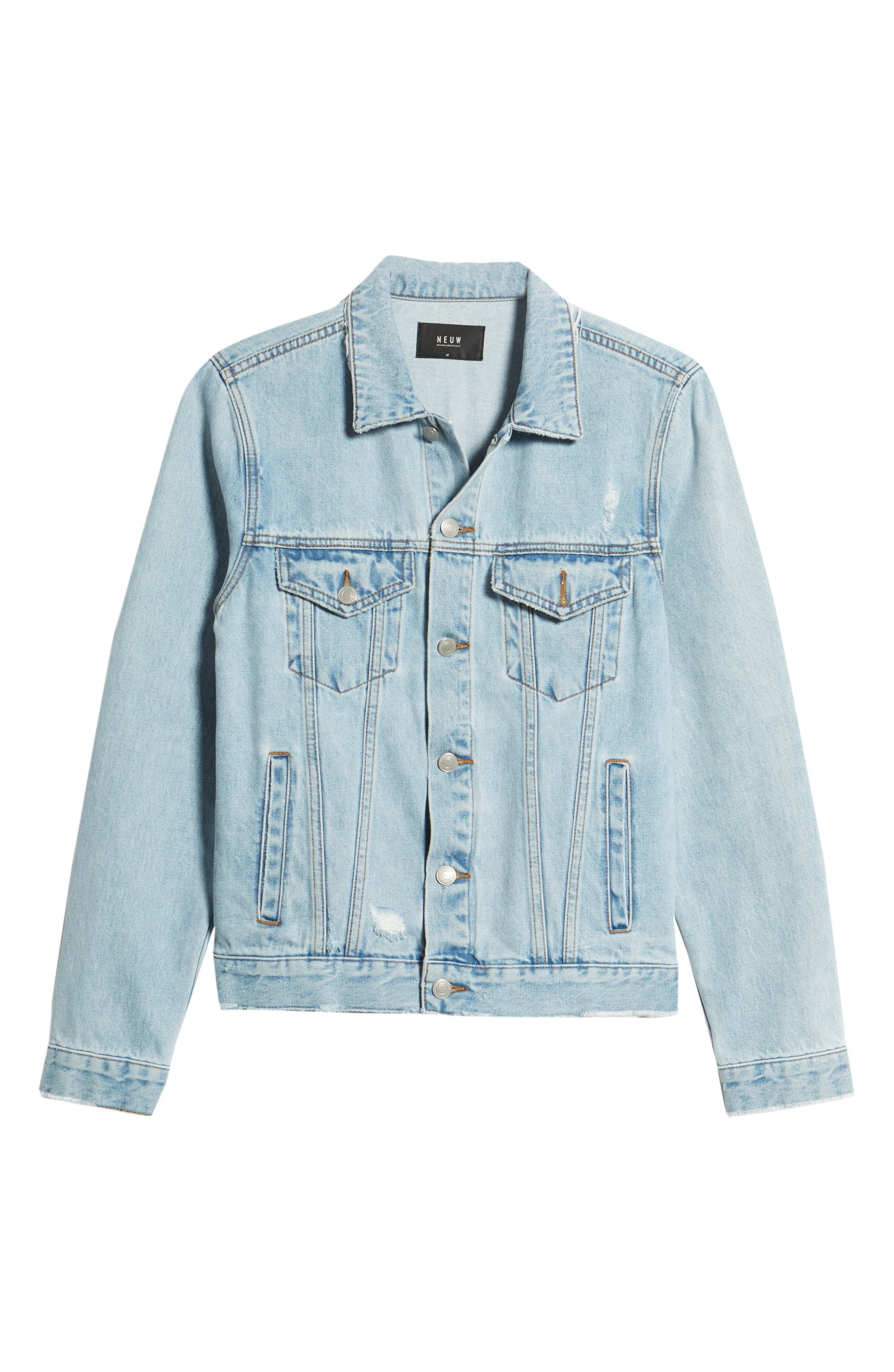 Type One Denim Jacket,                             Alternate thumbnail 6, color,                             Beaten Indigo