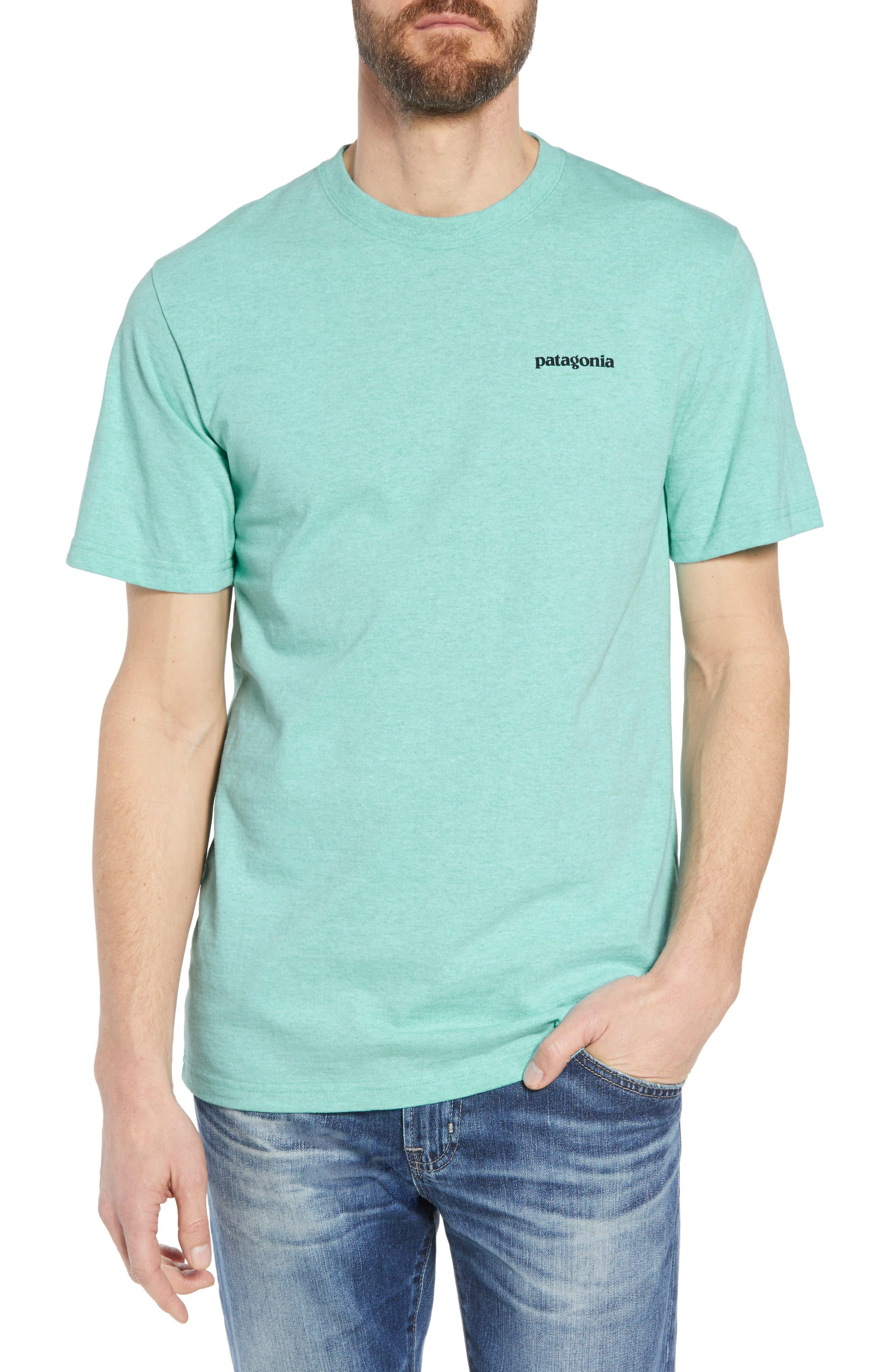 Fitz Roy Trout Crewneck T-Shirt,                         Main,                         color, Bend Blue