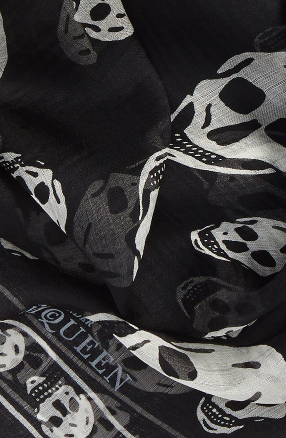 Alternate Image 2  - Alexander McQueen 'Skull' Chiffon Scarf