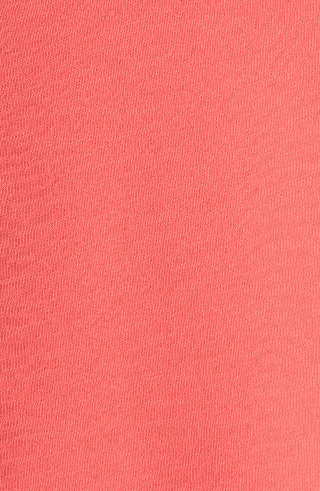 Button Back Knit Dress,                             Alternate thumbnail 6, color,                             Coral Rose
