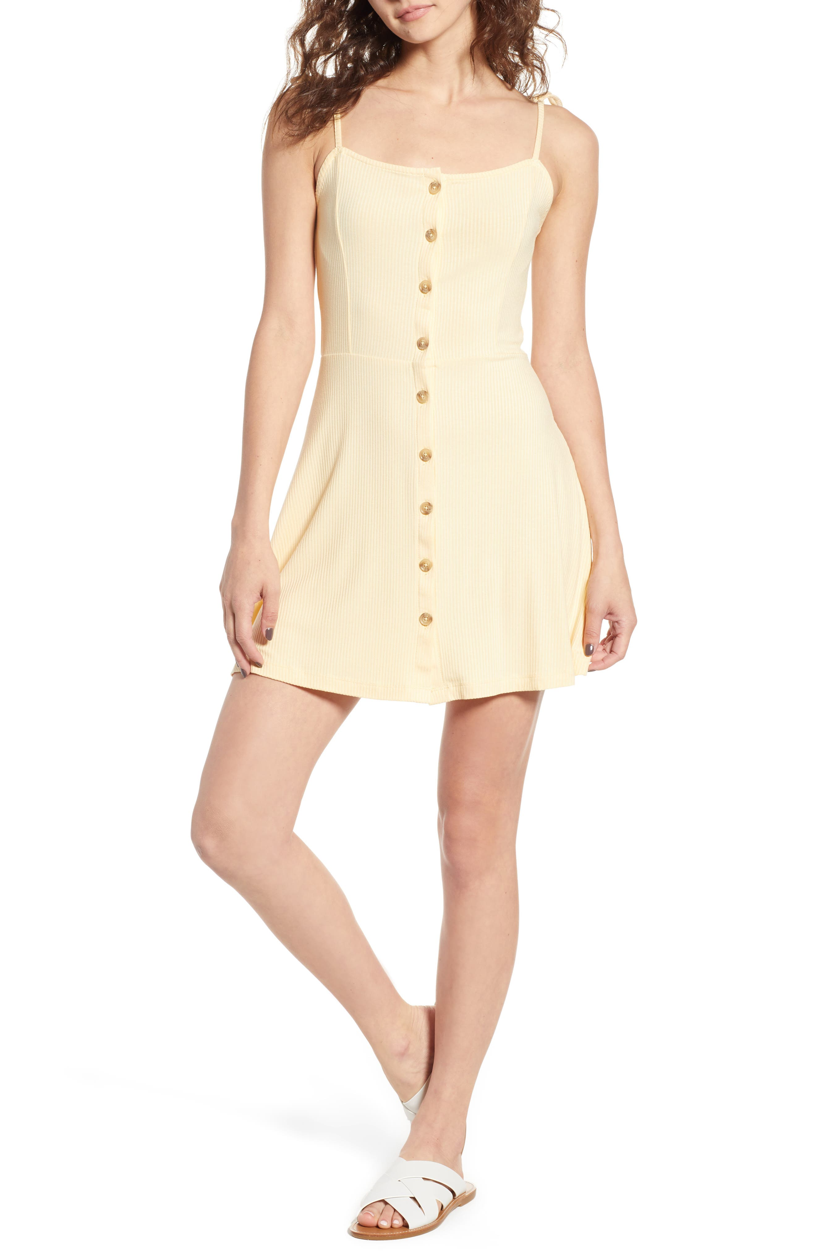 Topshop Button Down Rib Minidress