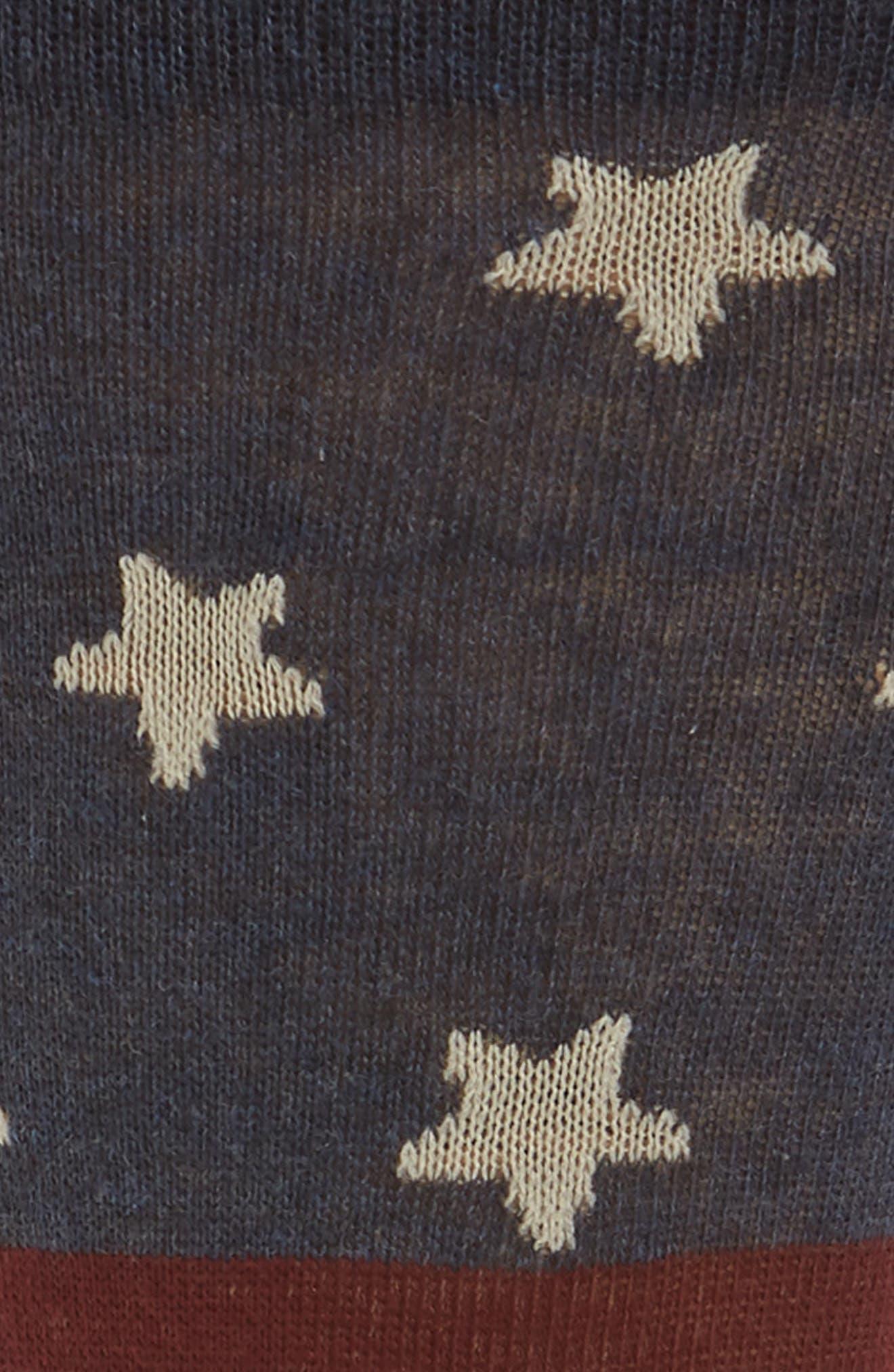 Flag Crew Socks,                             Alternate thumbnail 2, color,                             Navy