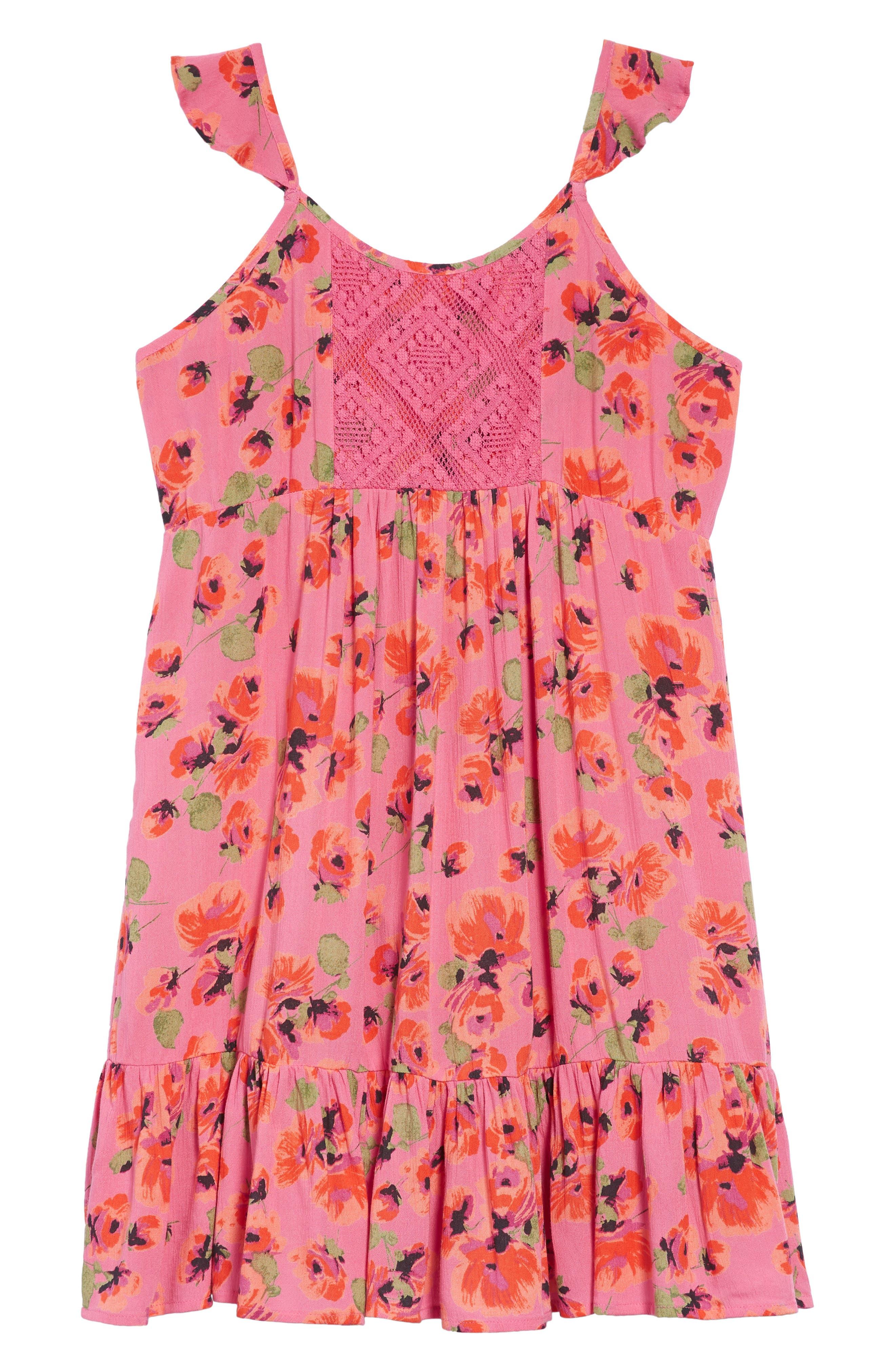 Sundazer Floral Dress,                         Main,                         color, Tahiti Pink