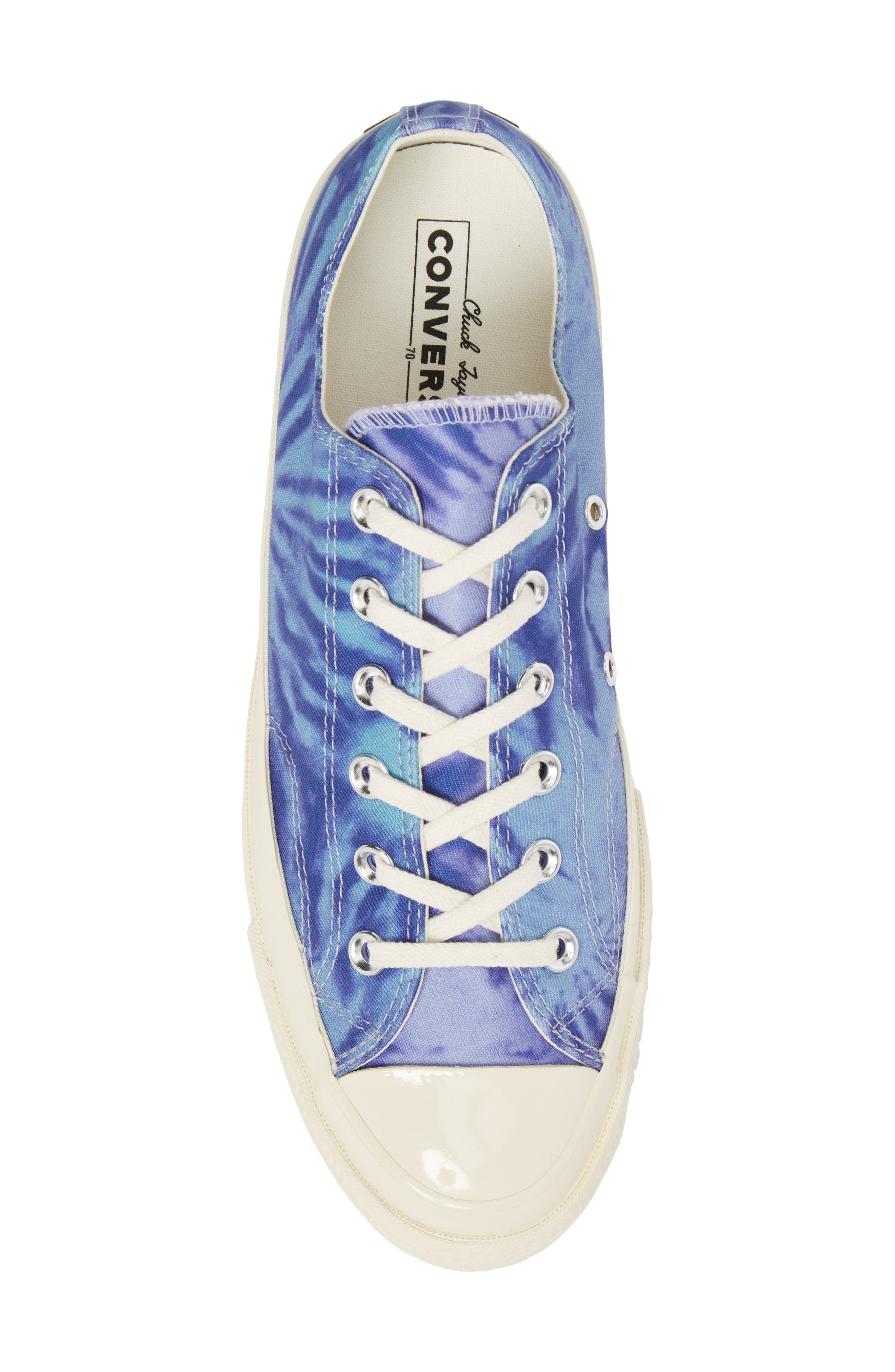Chuck Taylor<sup>®</sup> All Star<sup>®</sup> 70 Tie Dye Low Top Sneaker,                             Alternate thumbnail 5, color,                             Shoreline Blue