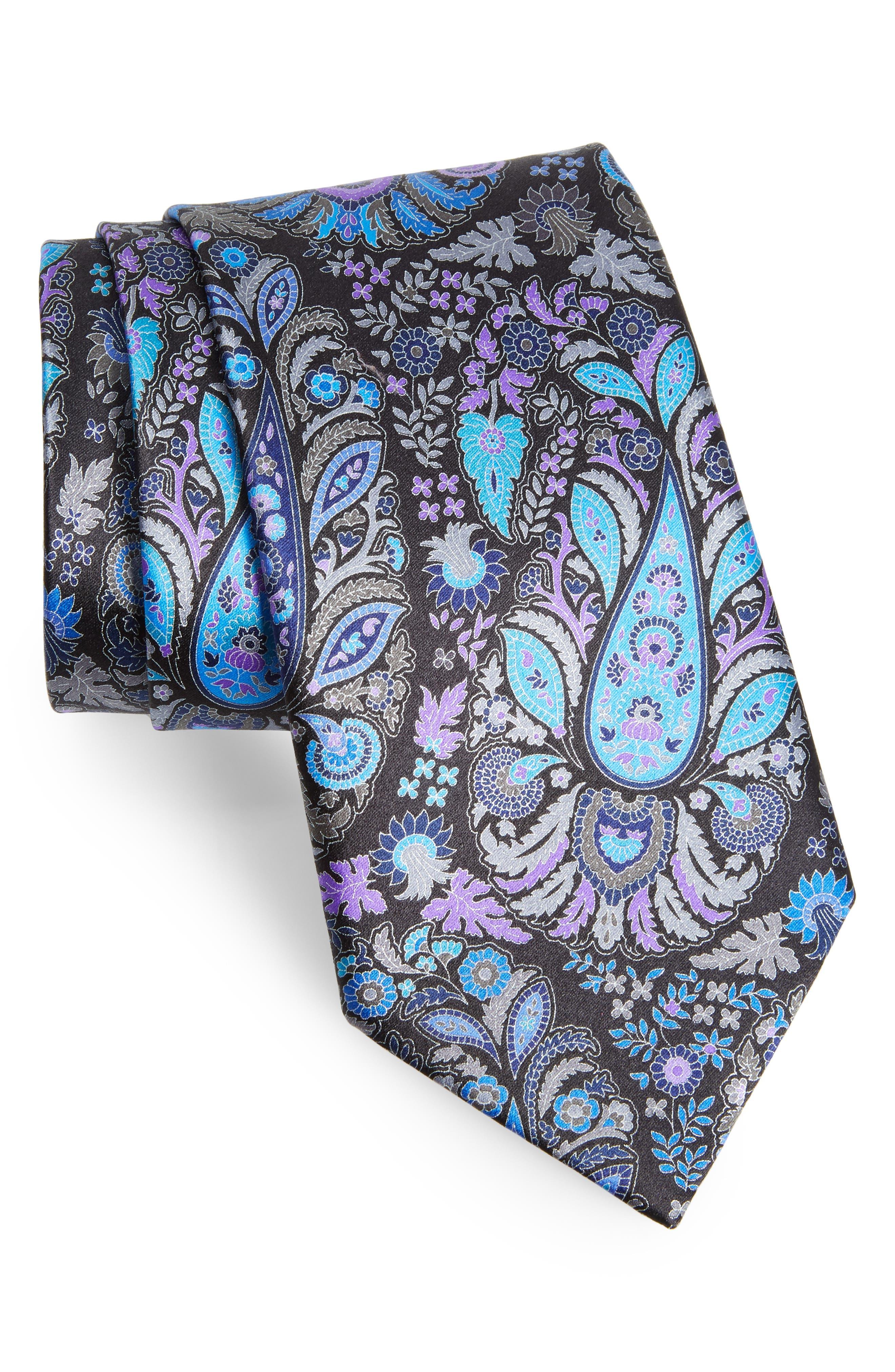 Ermenegildo Zegna Quindici Paisley Silk Tie