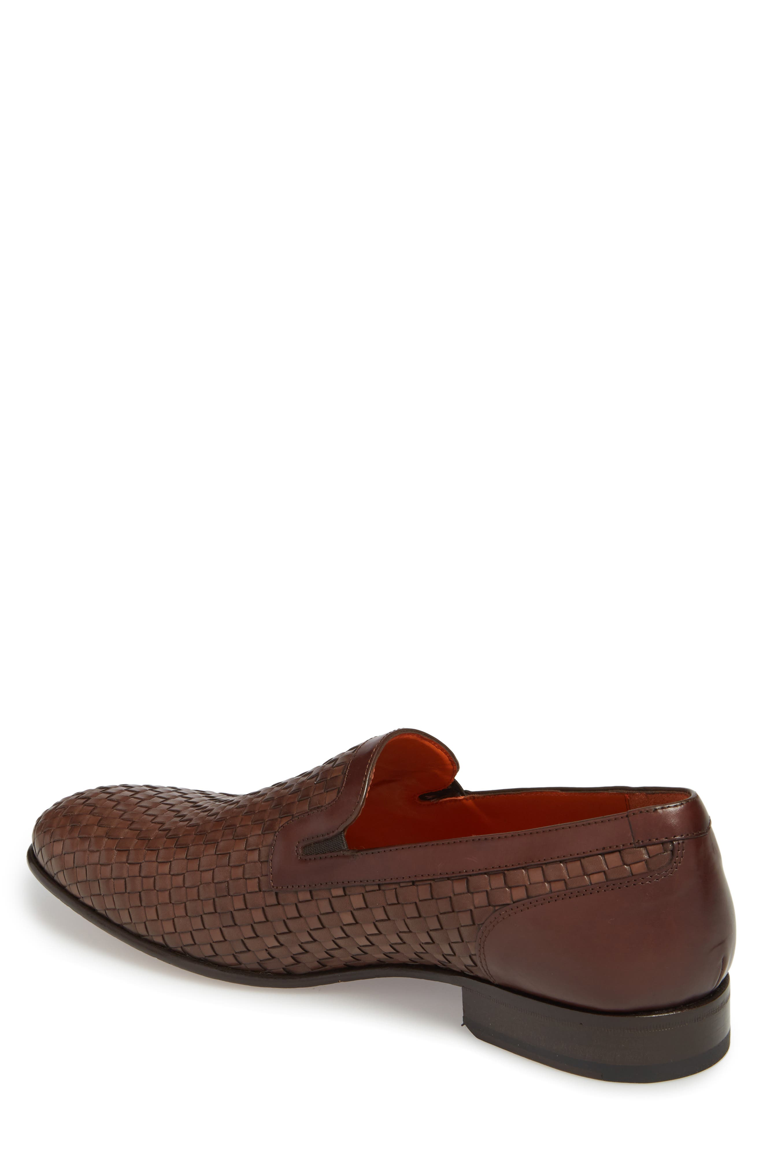 Eliseo Woven Venetian Loafer,                             Alternate thumbnail 2, color,                             Brown Leather