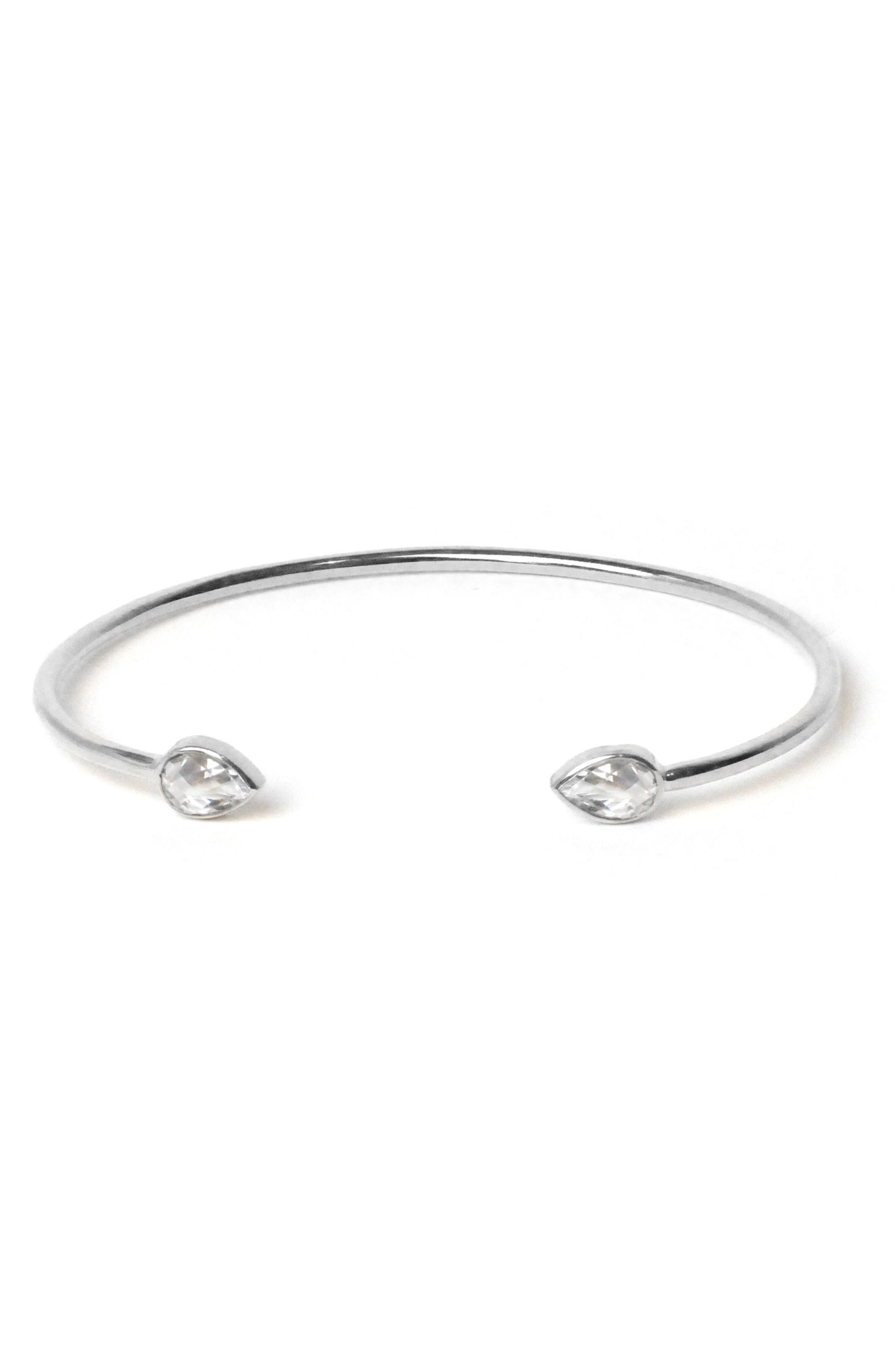 White Topaz Cuff Bracelet,                         Main,                         color, White Topaz