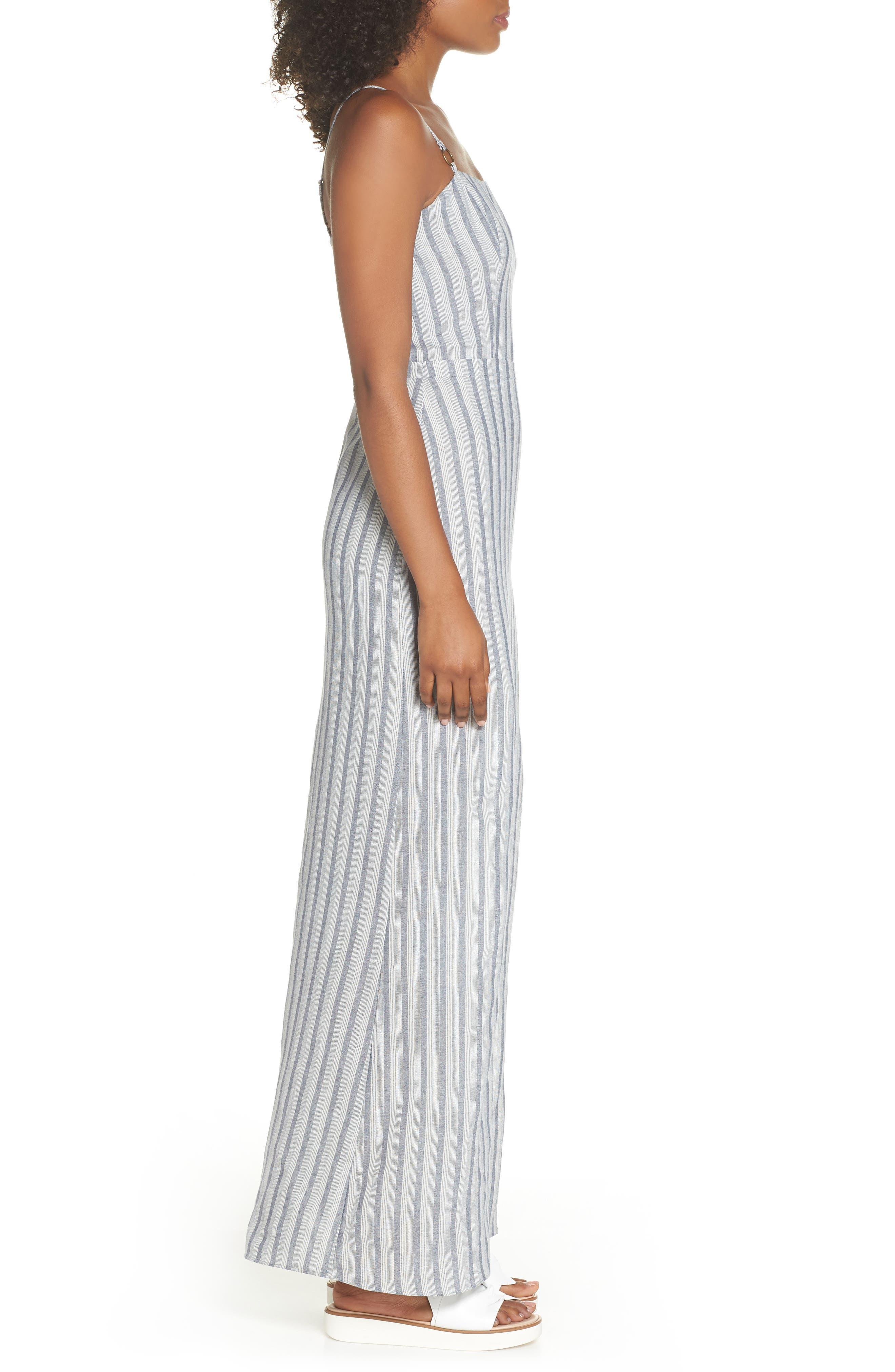 Krisa Stripe Maxi Dress,                             Alternate thumbnail 3, color,                             Multi