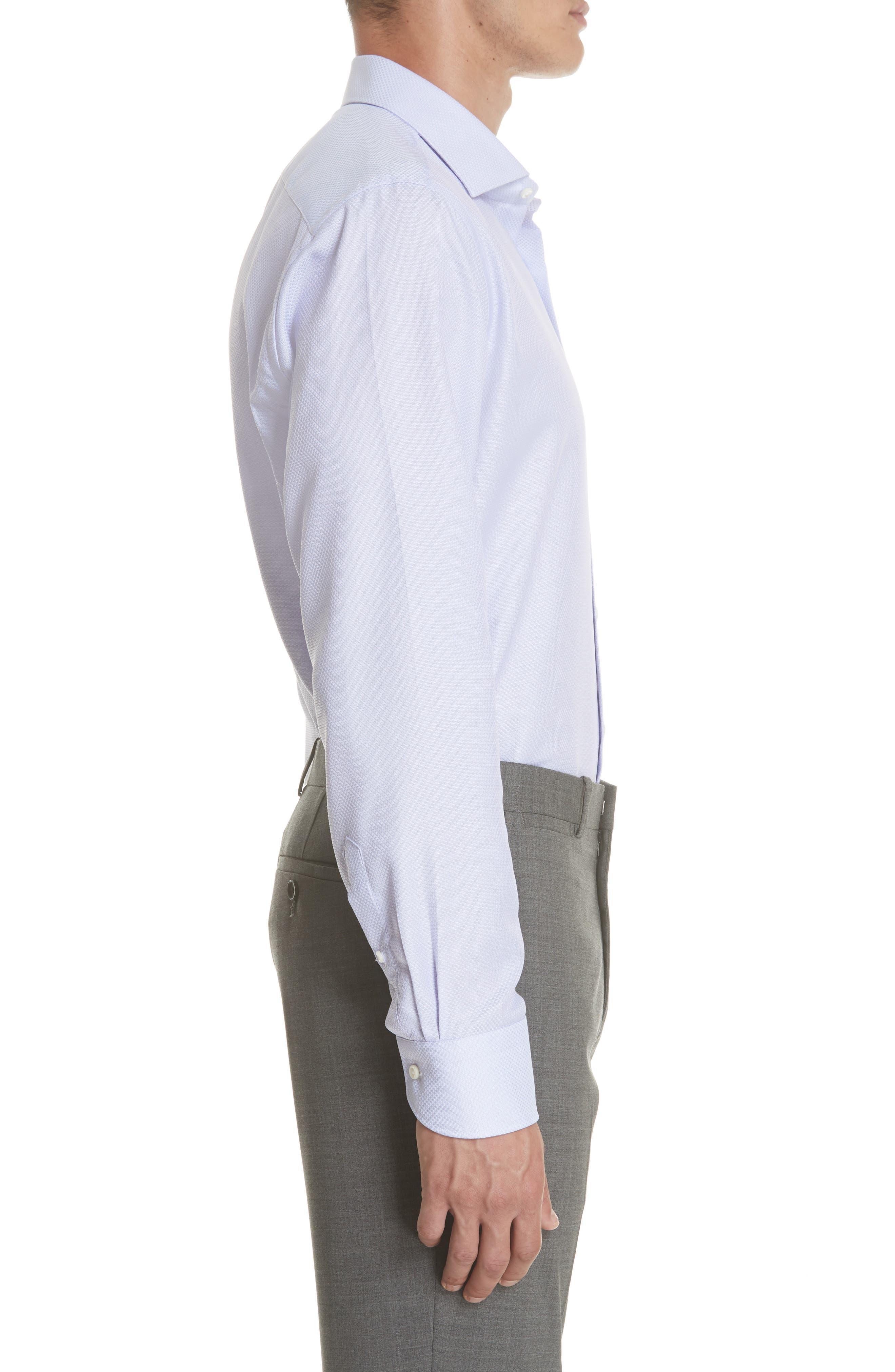 Regular Fit Dress Shirt,                             Alternate thumbnail 4, color,                             Light Purple
