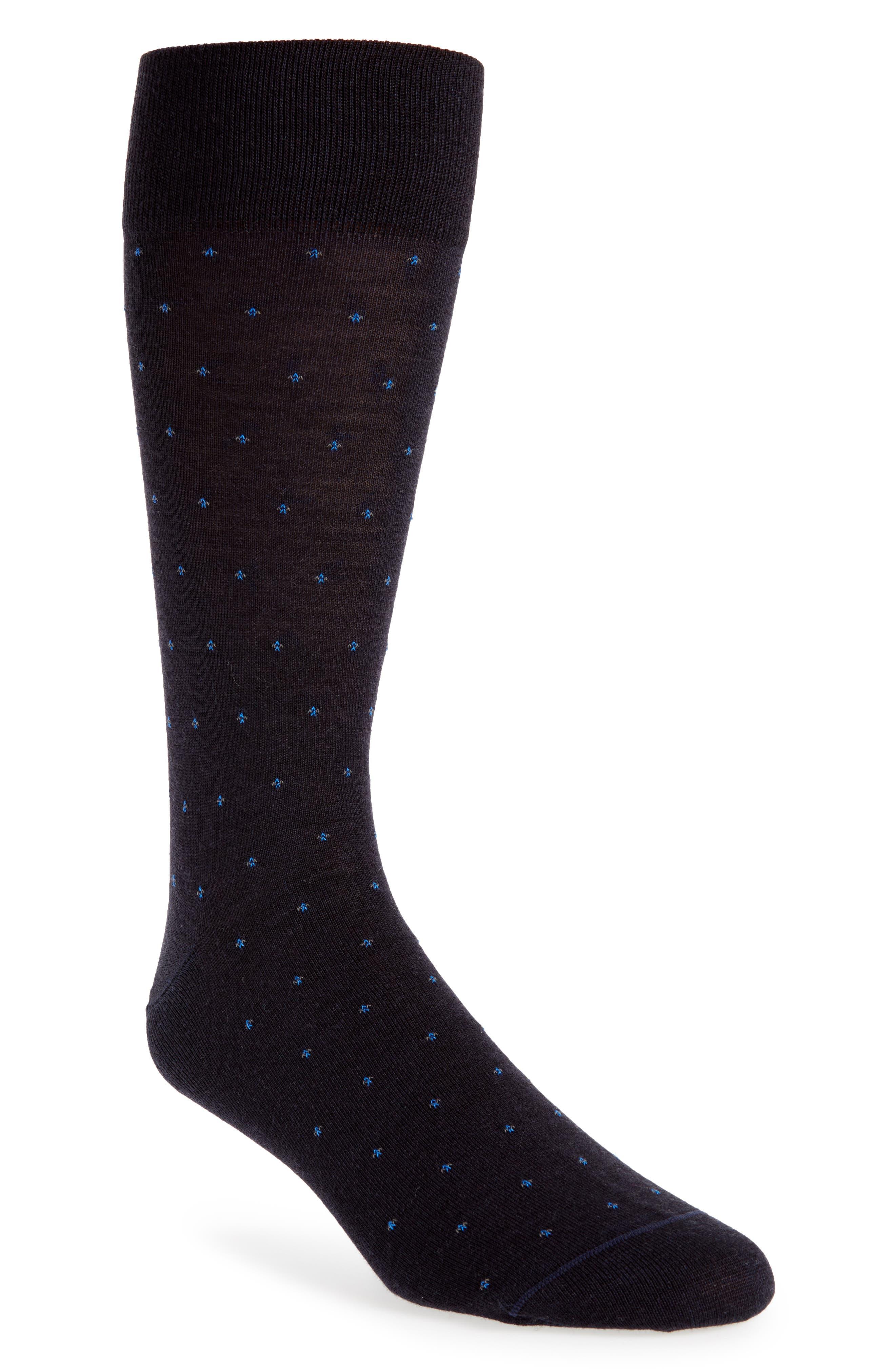 Neat Points Socks,                             Main thumbnail 1, color,                             Navy/ Blue