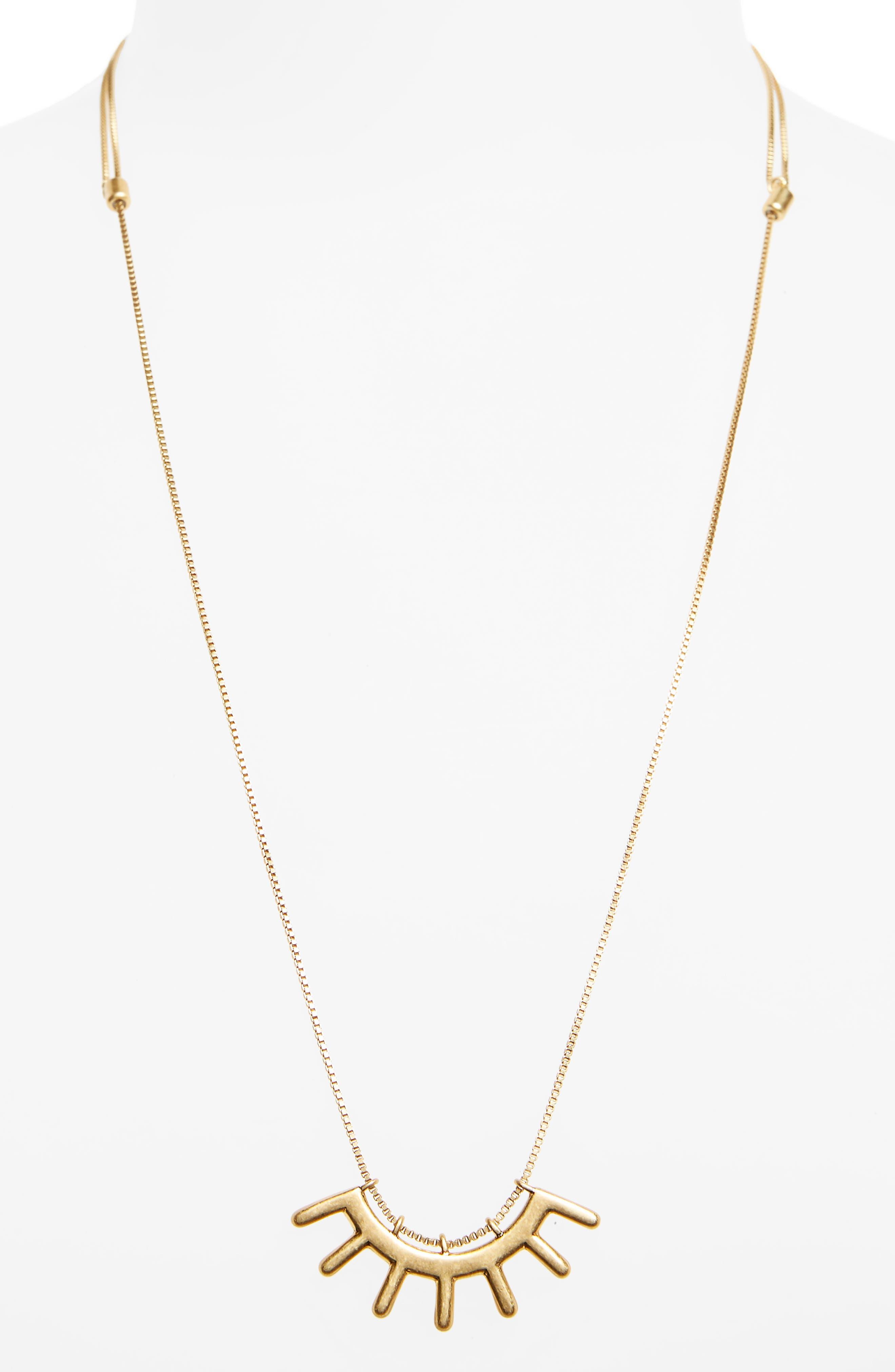 Succulent Pendant Necklace,                             Alternate thumbnail 2, color,                             Vintage Gold