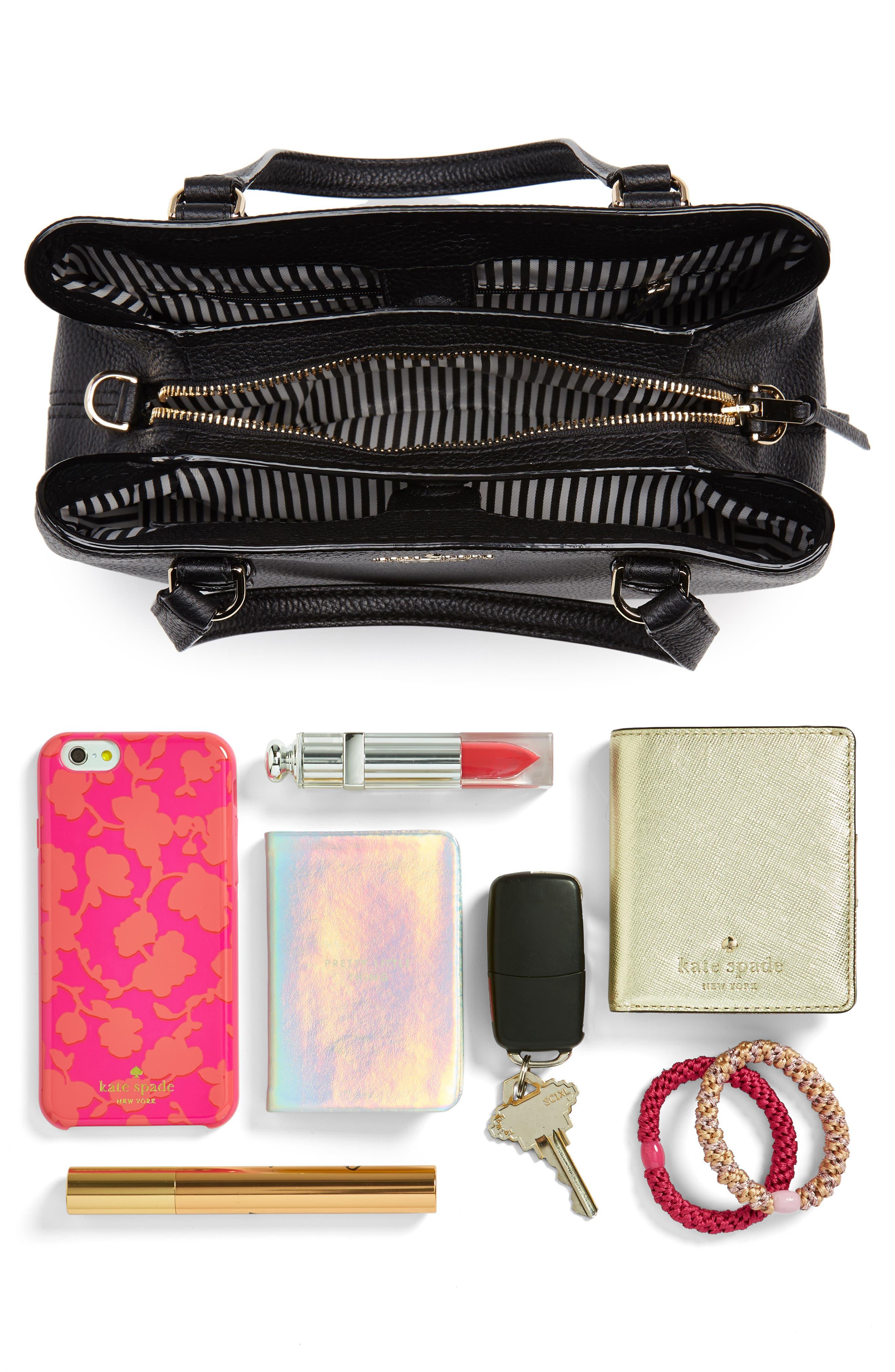 jackson street – small octavia leather satchel,                             Alternate thumbnail 7, color,