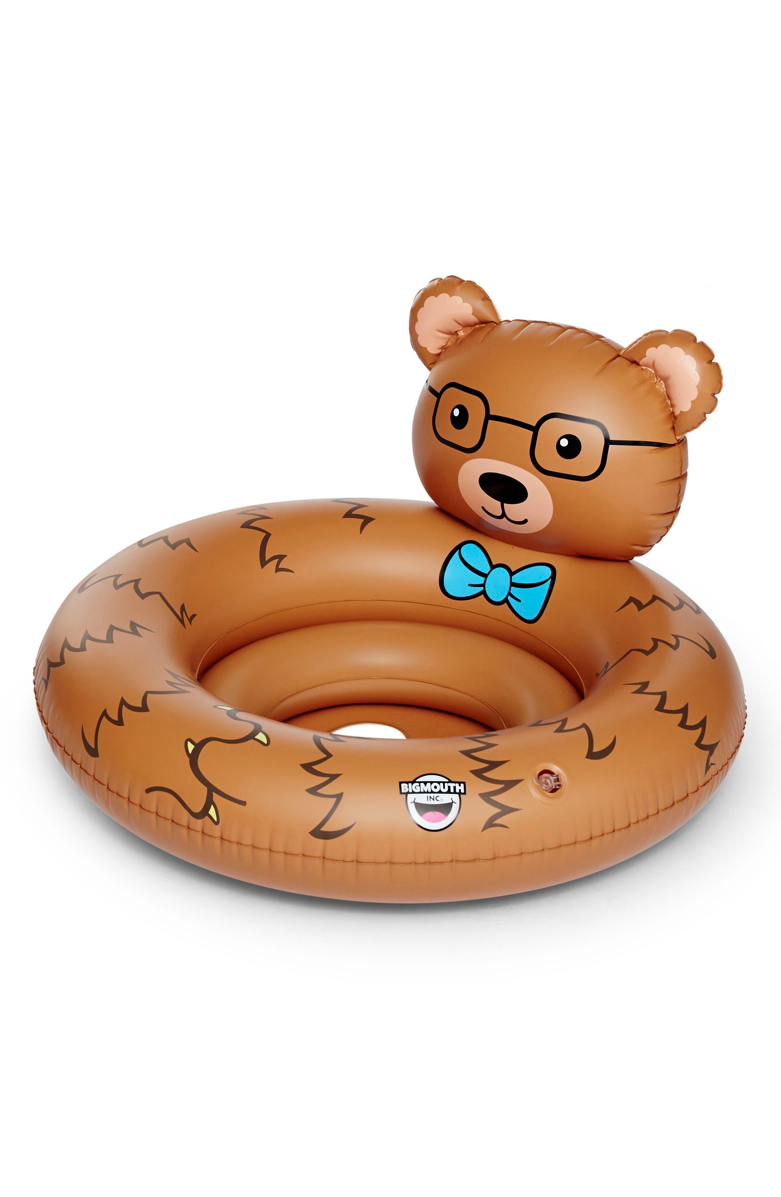 Bear Hug Pool Float,                             Main thumbnail 1, color,                             Brown