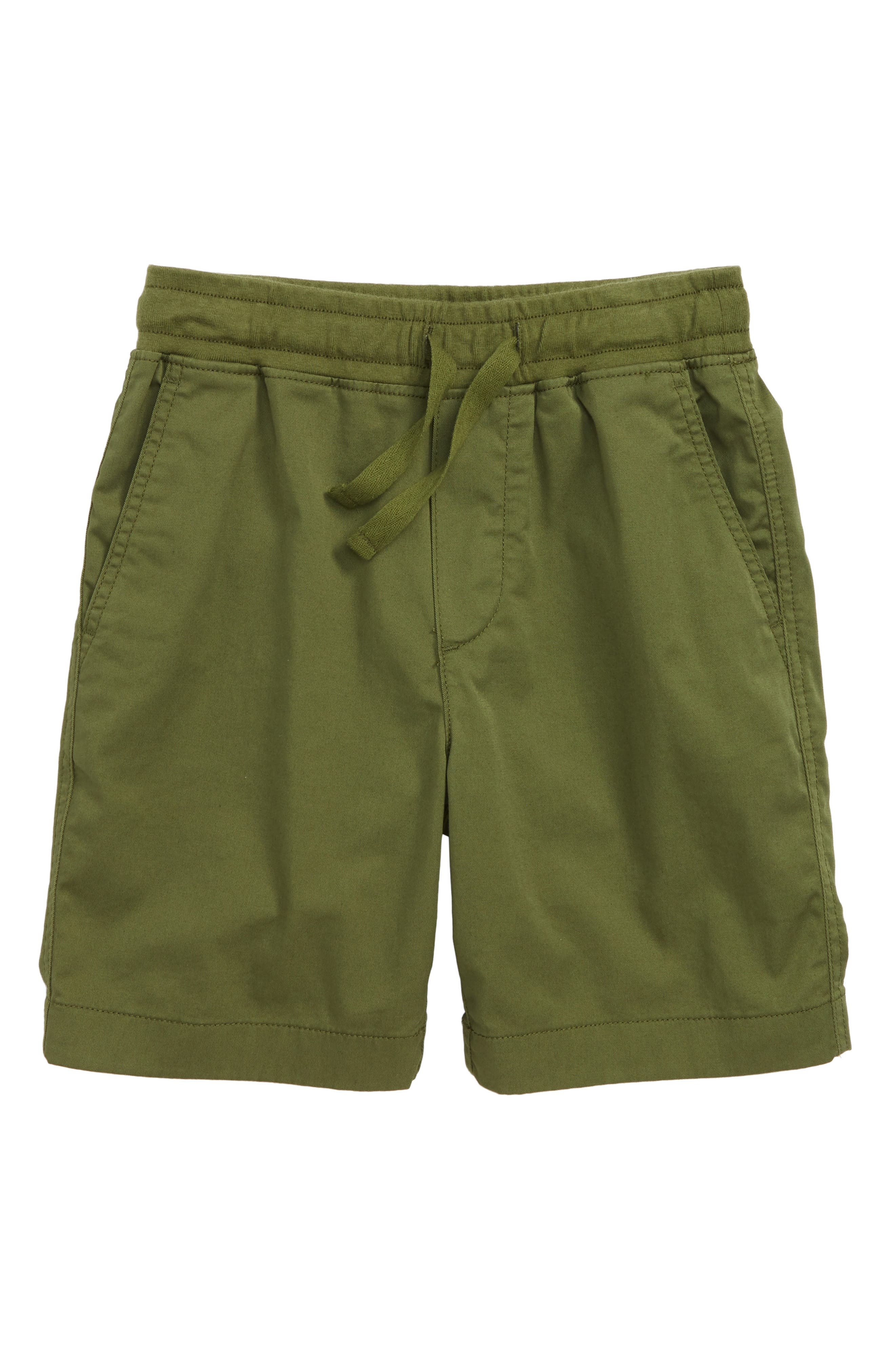 Stretch Pull-On Shorts,                         Main,                         color, Dark Seaweed