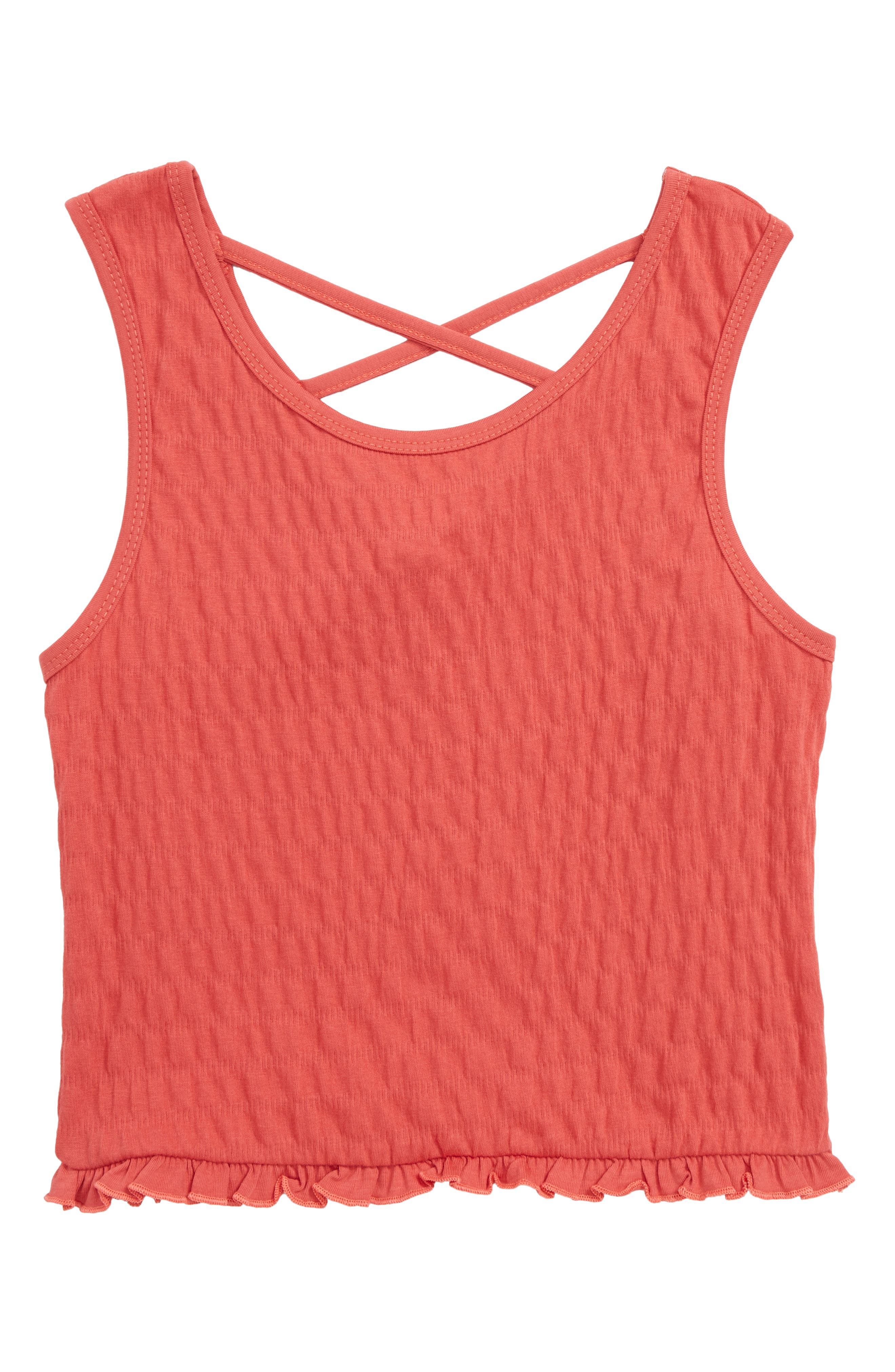 Smocked Tank,                         Main,                         color, Red
