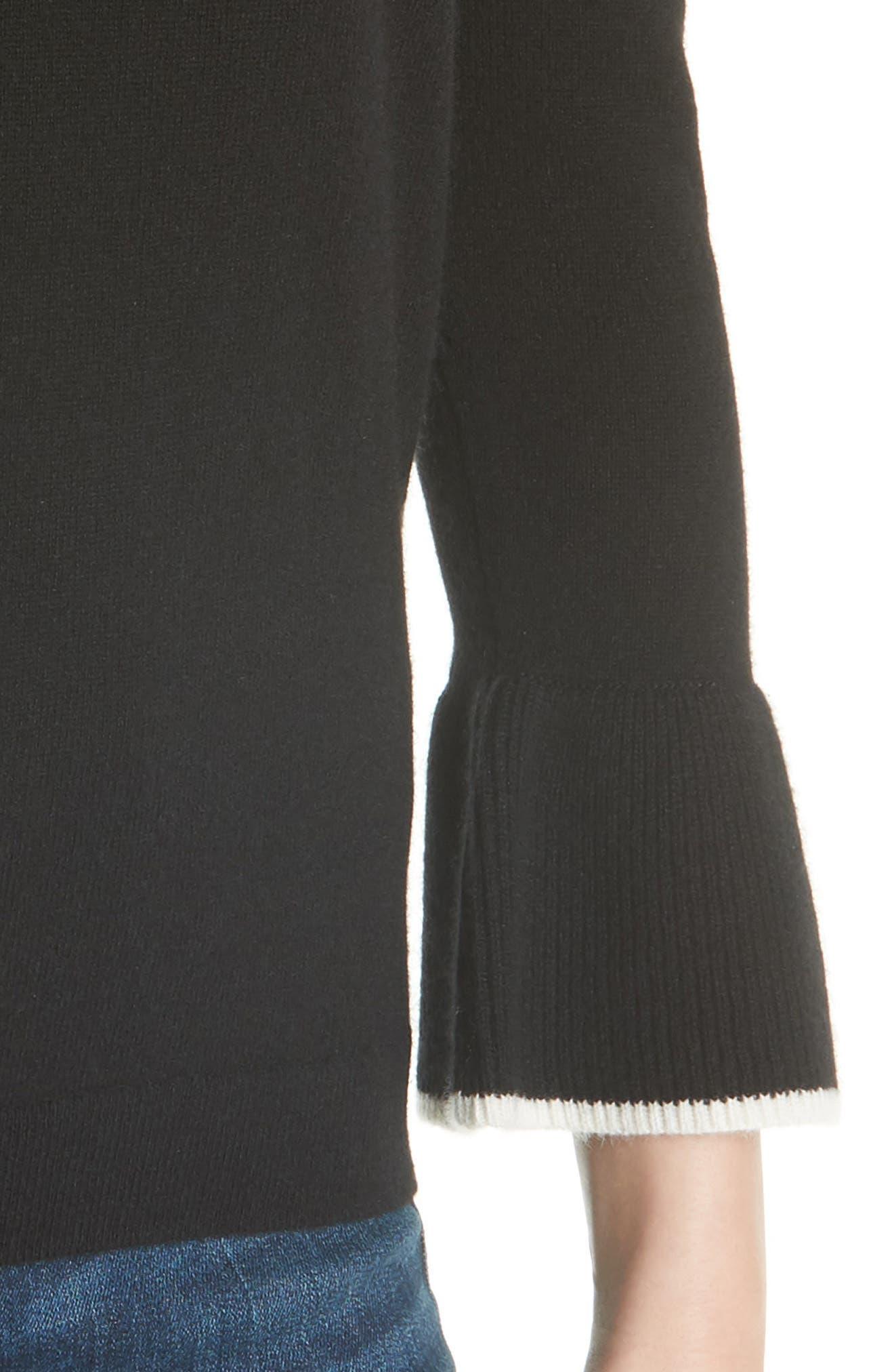 Mar Cashmere Sweater,                             Alternate thumbnail 4, color,                             Black