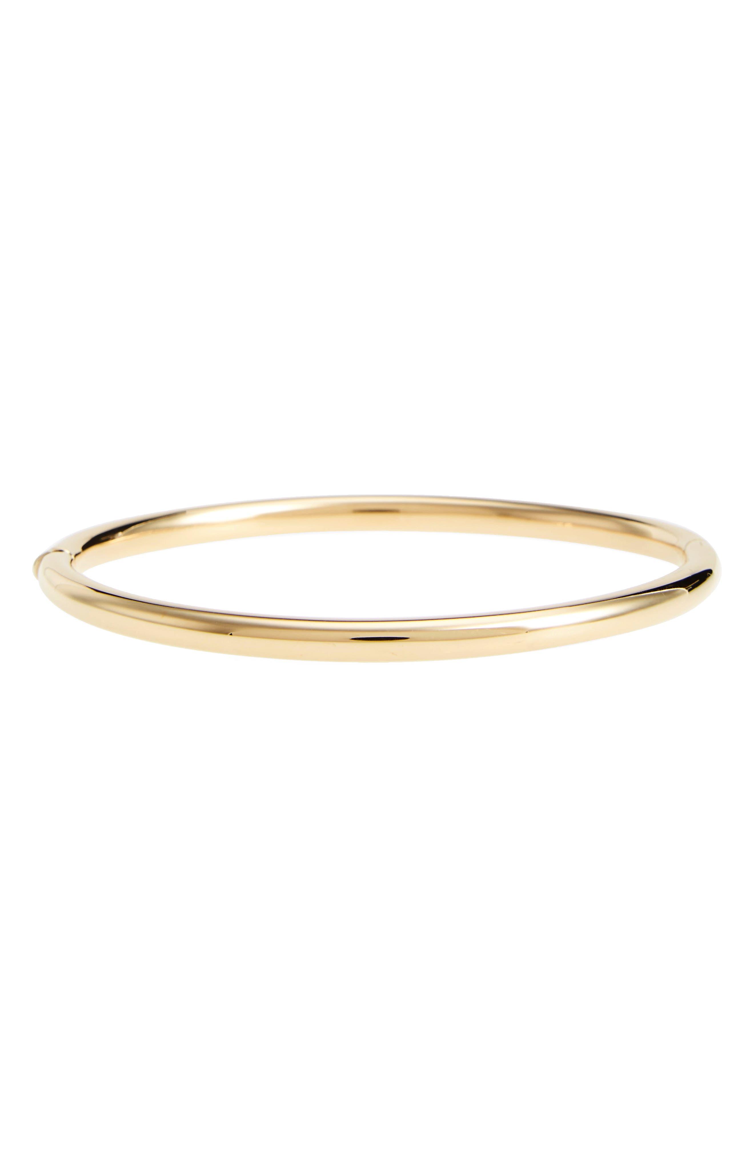 Slim Bangle Bracelet,                         Main,                         color, Yellow Gold