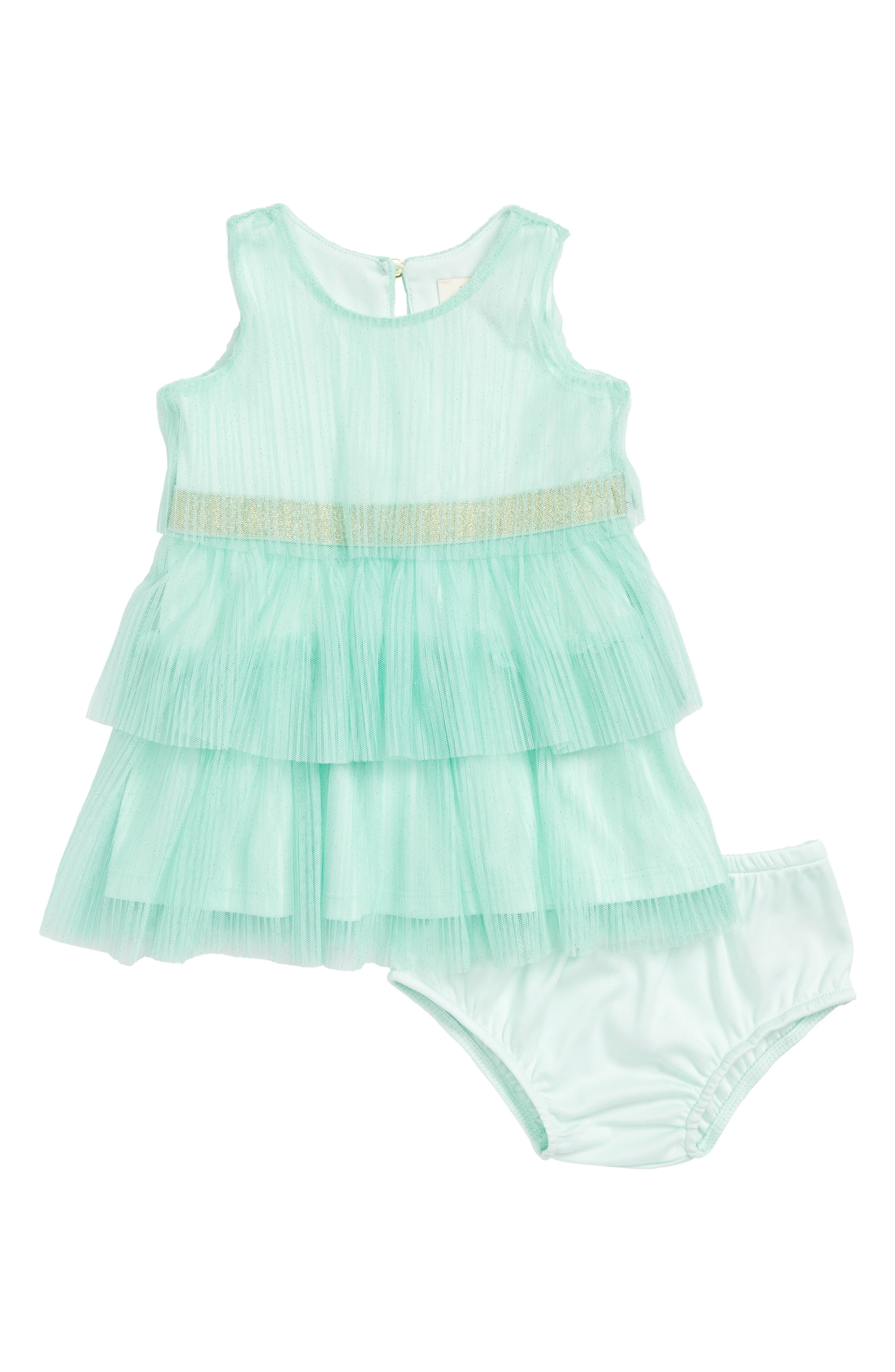 pleated tulle dress,                         Main,                         color, Fresh Mint