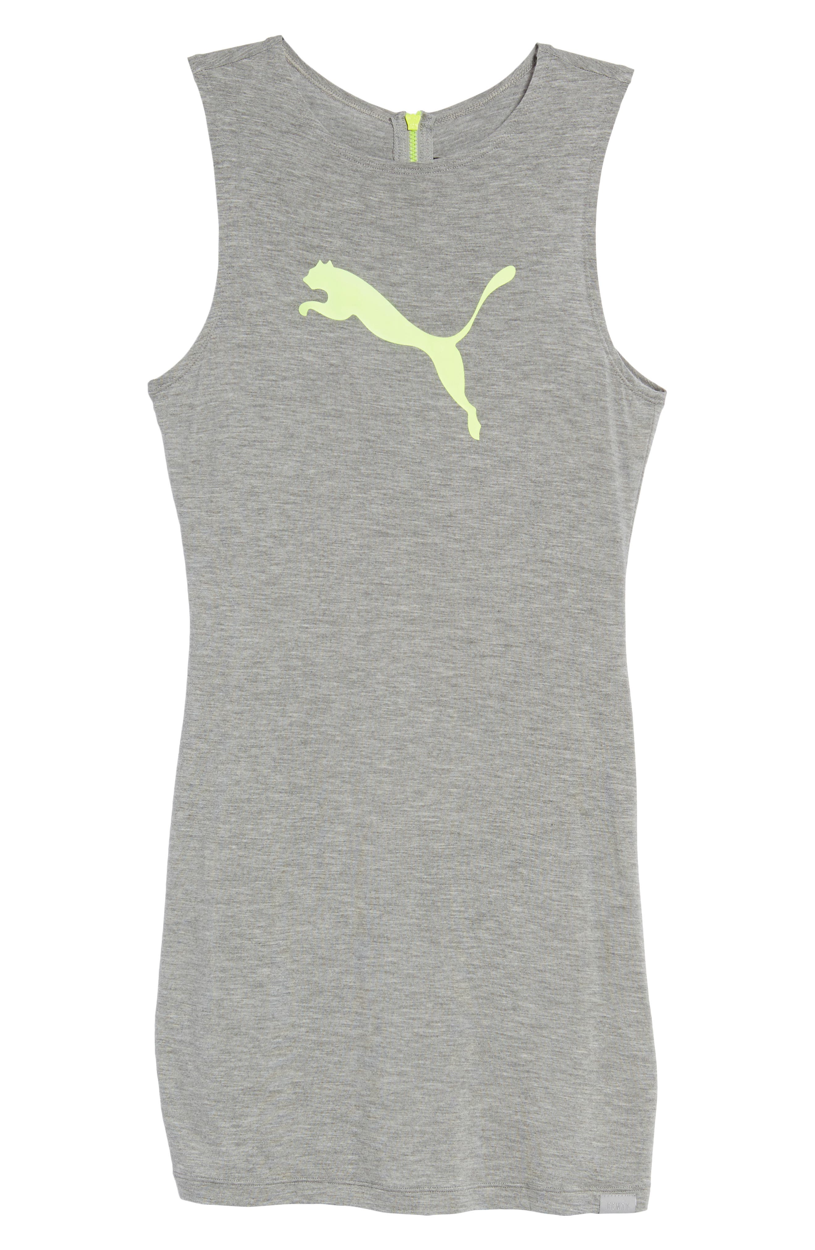 PUMA by Rihanna Body-Con Dress,                             Alternate thumbnail 7, color,                             Athletic Gray Heather