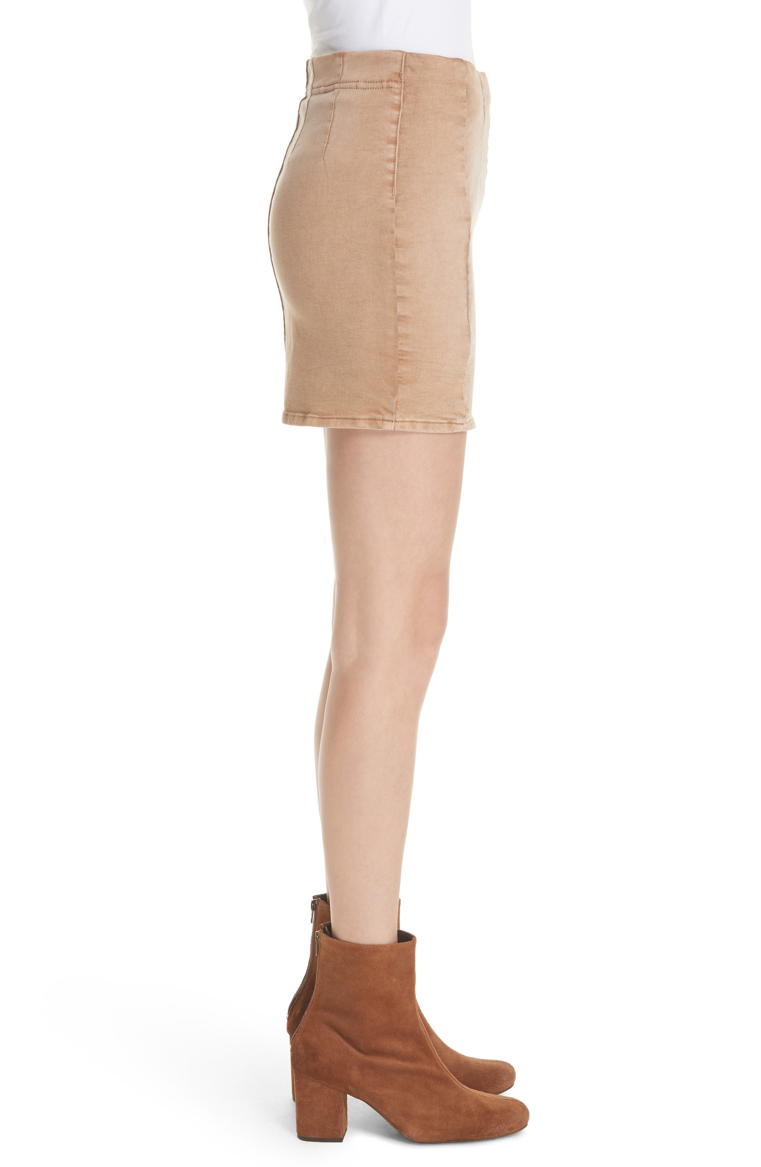 Femme Fatale Pull On Skirt,                             Alternate thumbnail 6, color,                             Khaki