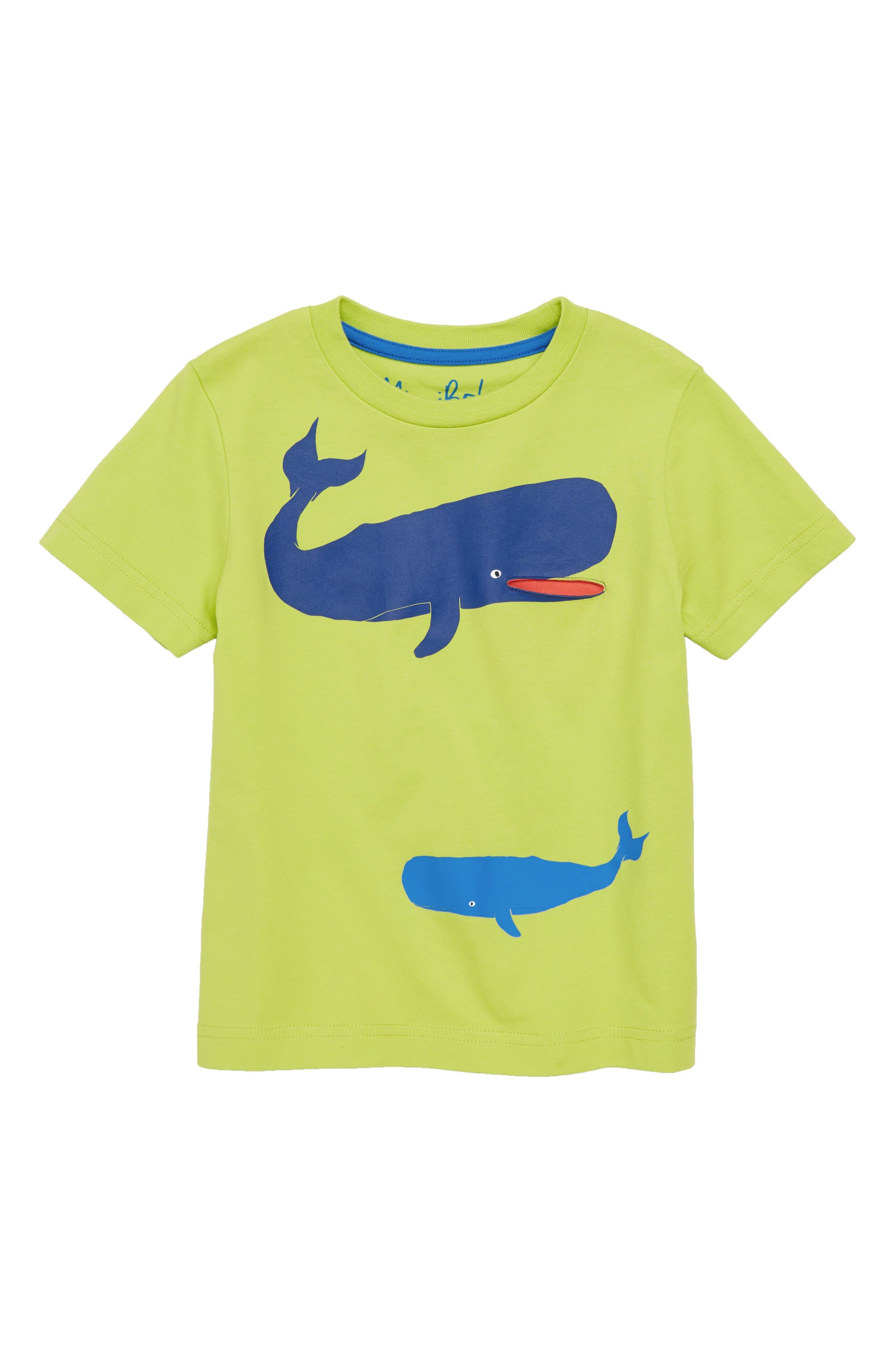 Mini Boden Sea Animal Pocket T-Shirt (Toddler Boys, Little Boys & Big Boys)