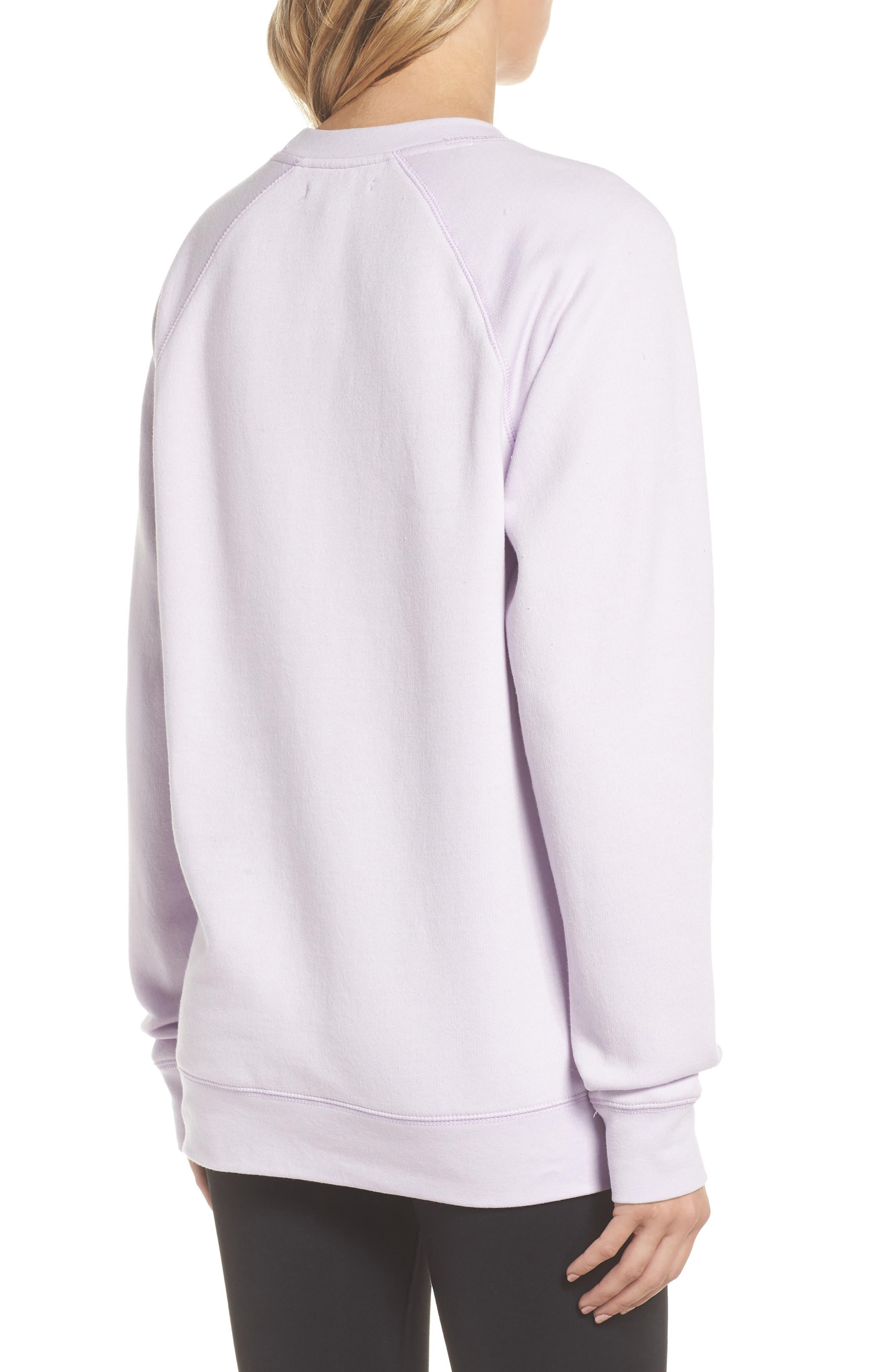 Blonde Sweatshirt,                             Alternate thumbnail 2, color,                             Soft Lavender