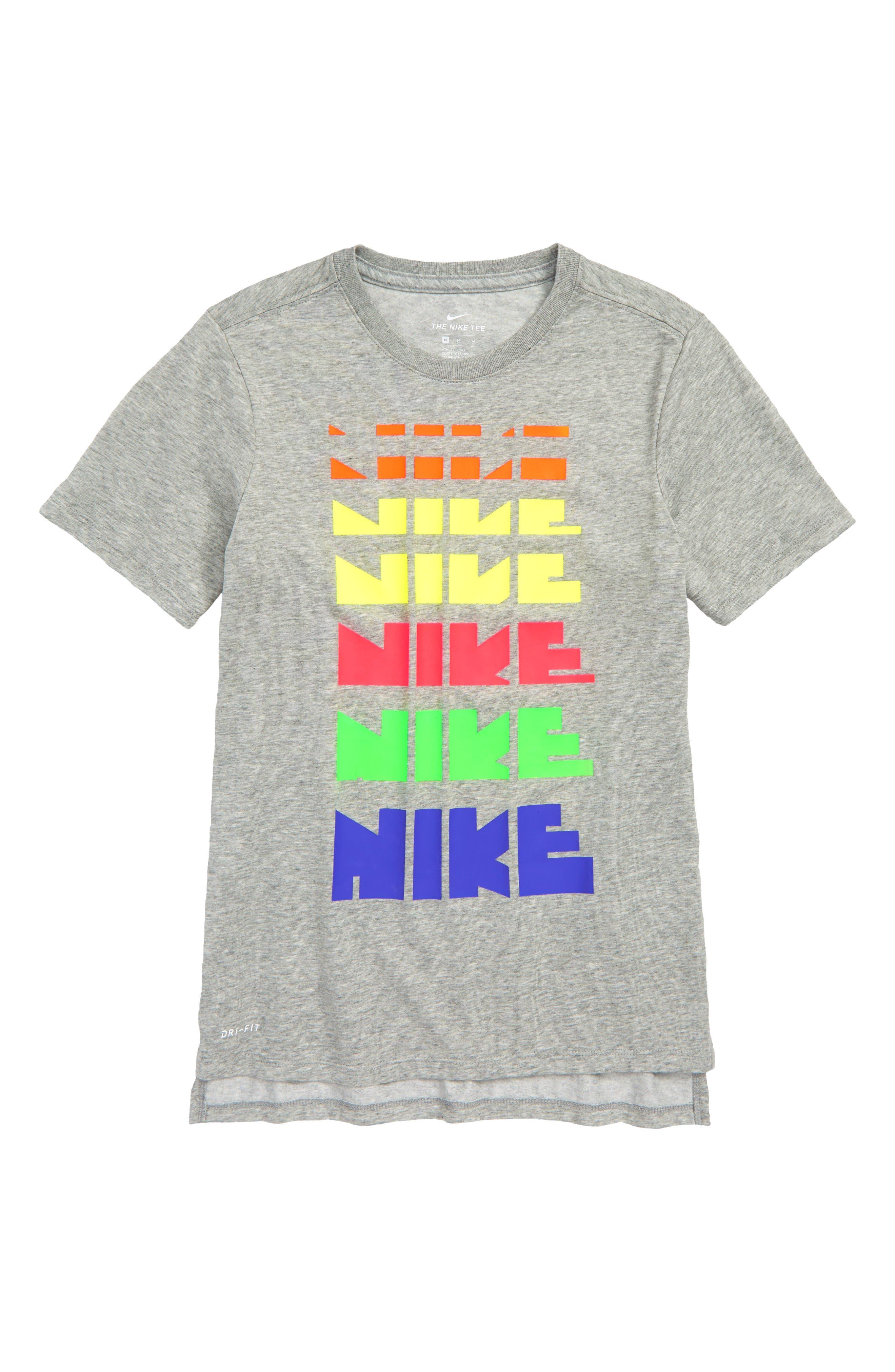 Dry Graphic T-Shirt,                             Main thumbnail 1, color,                             Dark Grey Heather