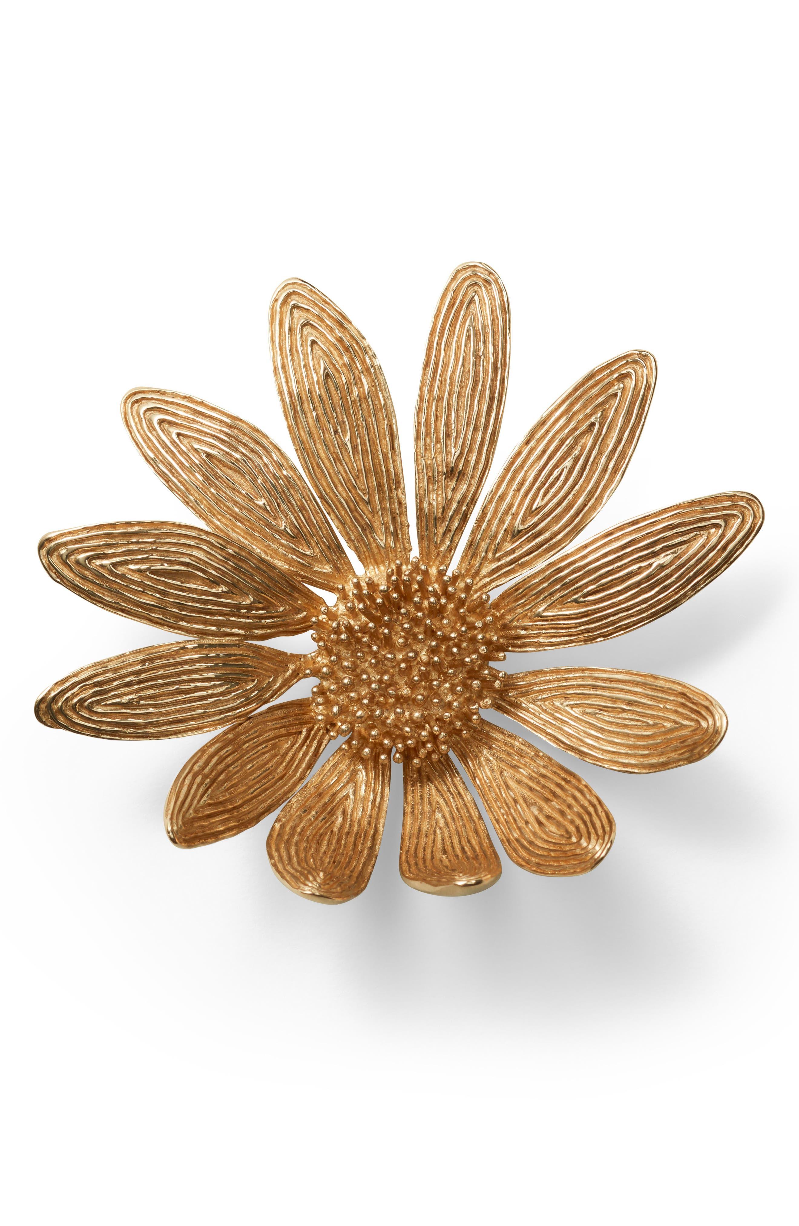 Marguerite Flower,                             Alternate thumbnail 3, color,                             Gold