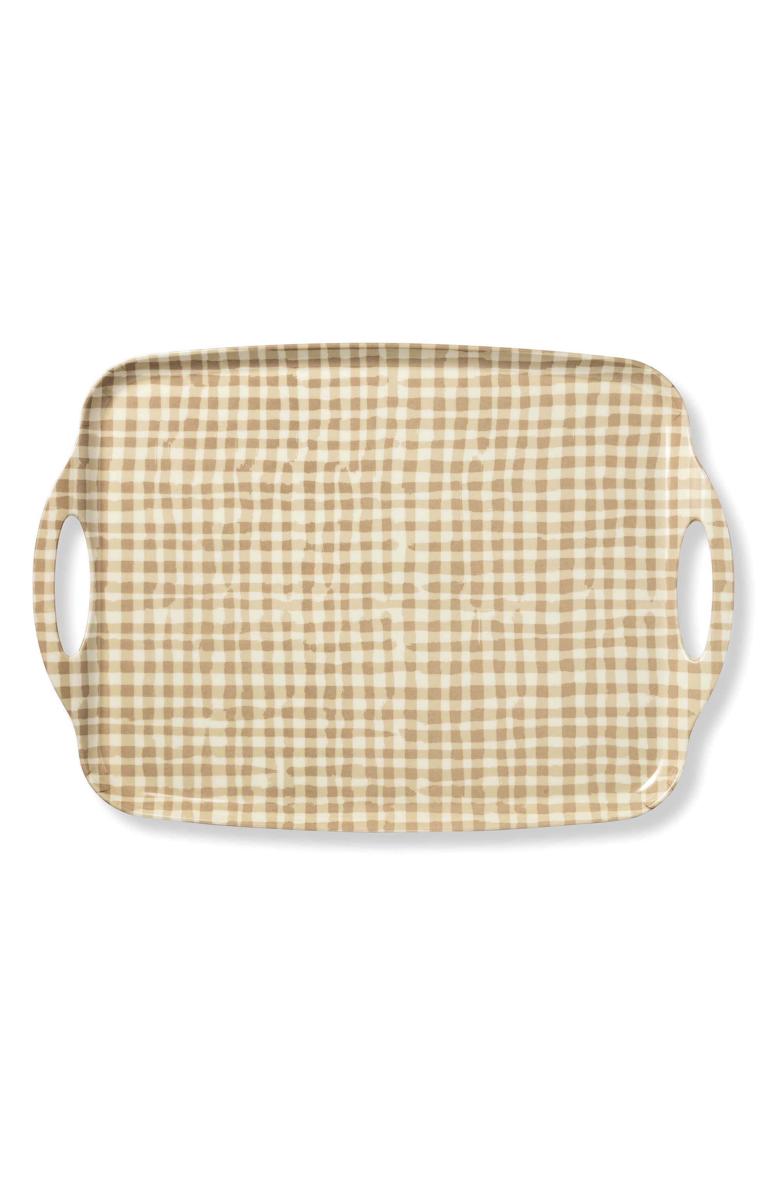 gingham serving tray,                             Main thumbnail 1, color,                             Gingham