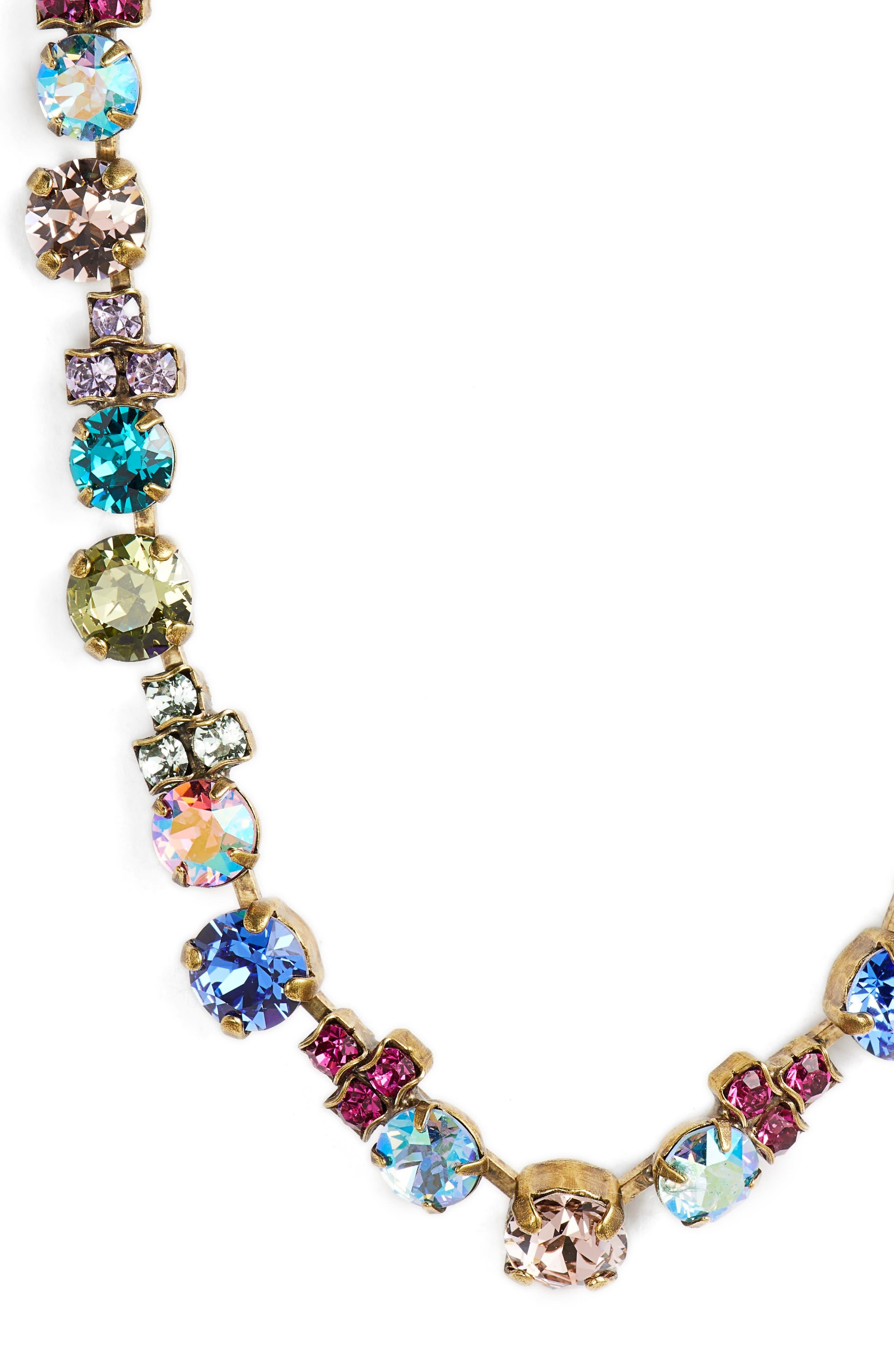 Limonium Crystal Necklace,                             Alternate thumbnail 2, color,                             Gold Multi