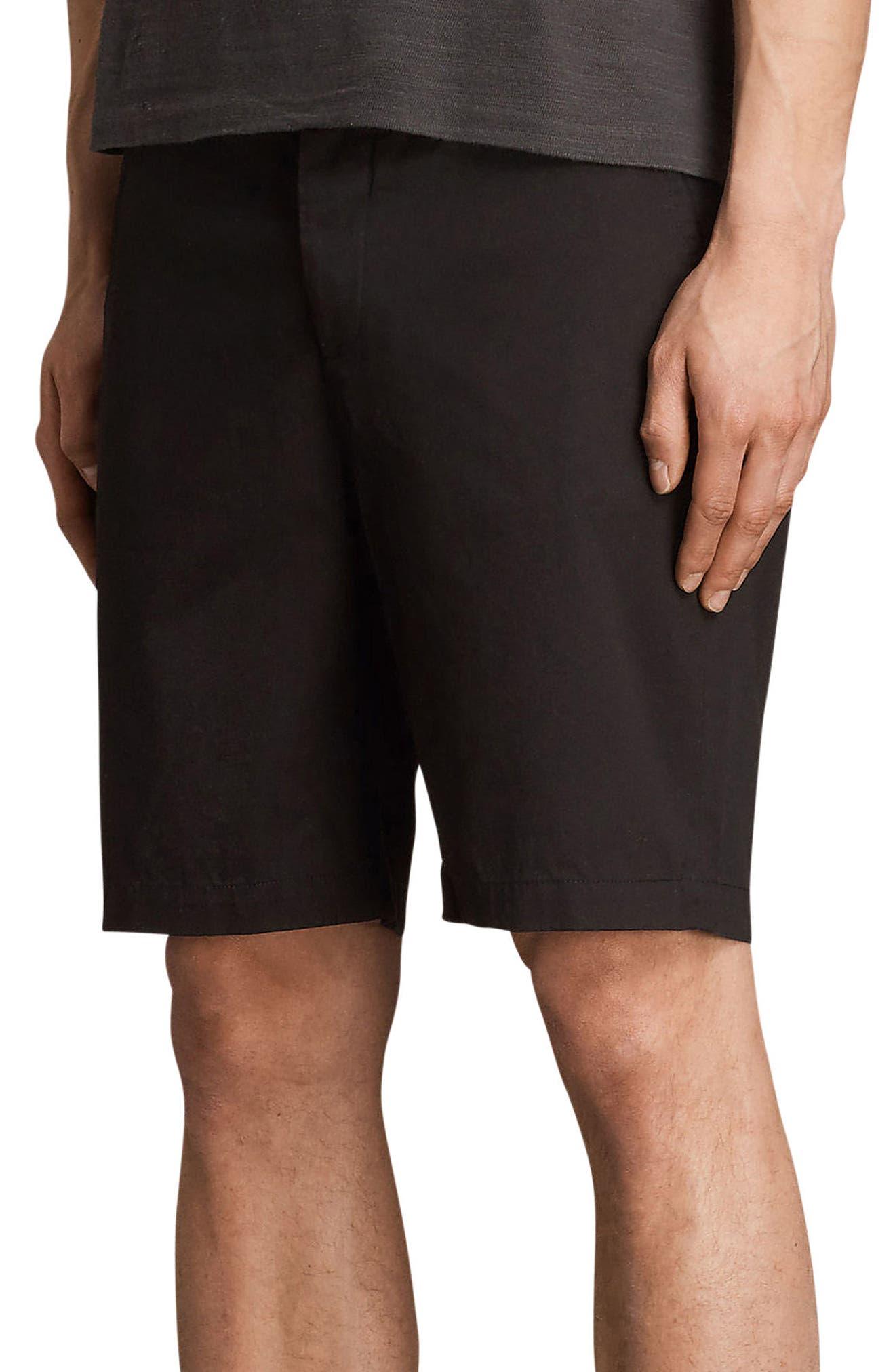 Cobalt Slim Fit Cotton Shorts,                             Alternate thumbnail 3, color,                             Black