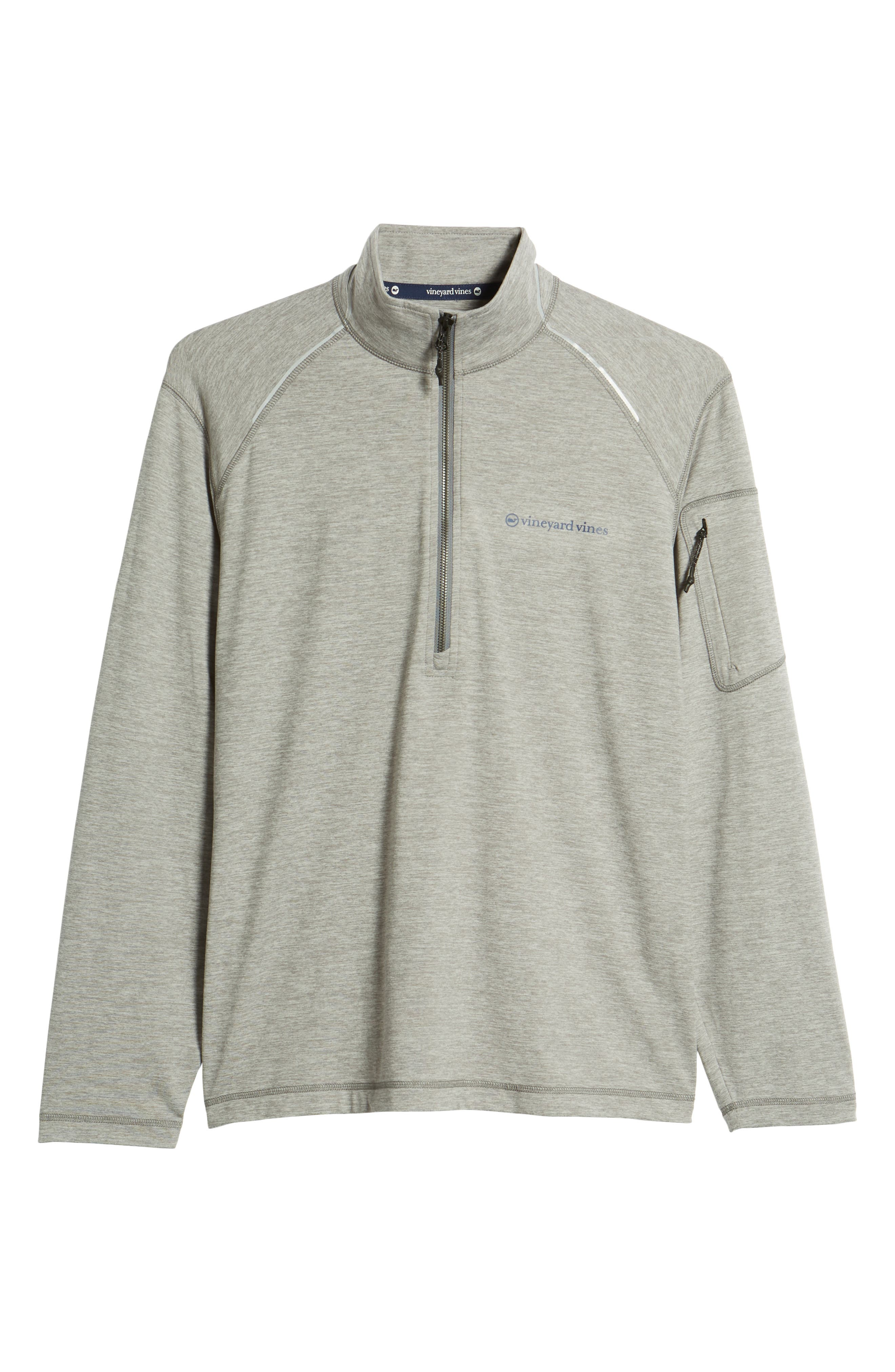 Performance Half Zip Pullover,                             Alternate thumbnail 6, color,                             Gray Heather