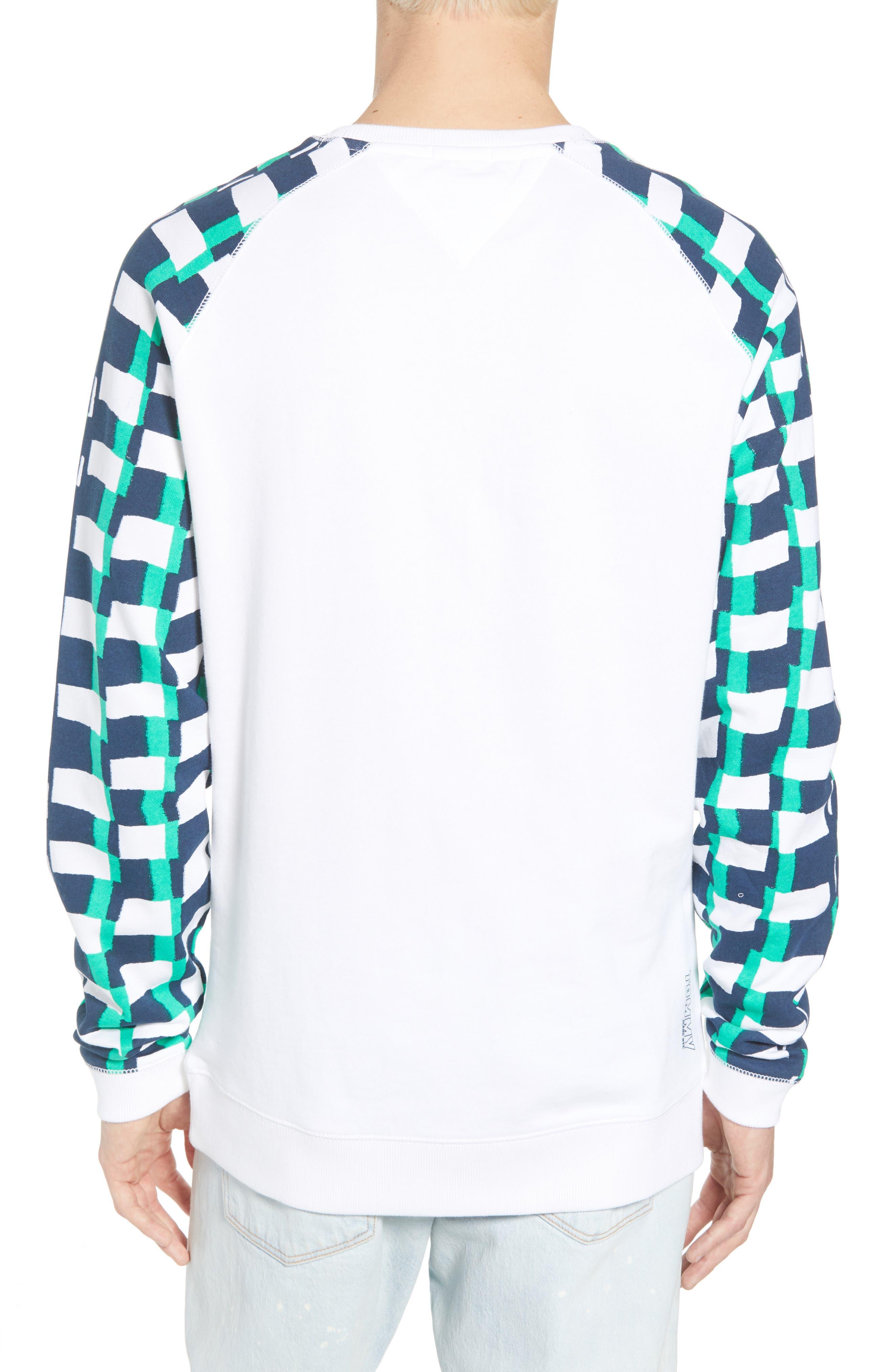 Racing Logo Sweatshirt,                             Alternate thumbnail 2, color,                             Classic White / Checker