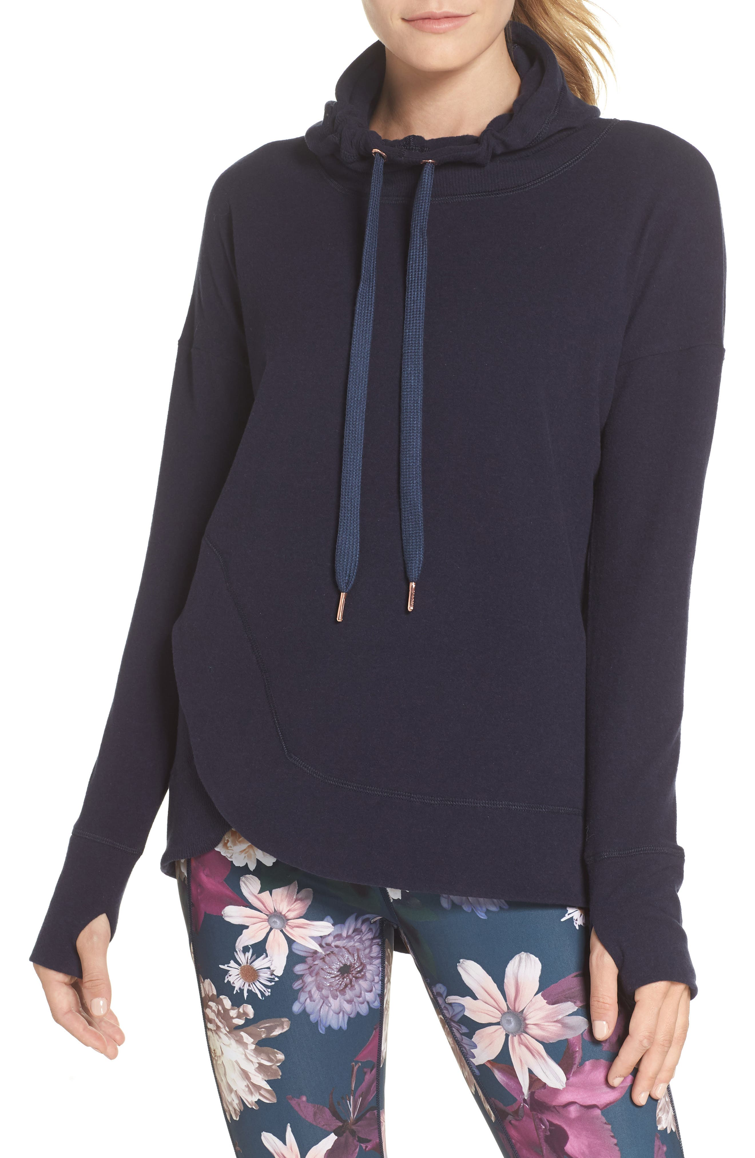Invigorate Luxe Hoodie,                             Main thumbnail 1, color,                             Beetle Blue